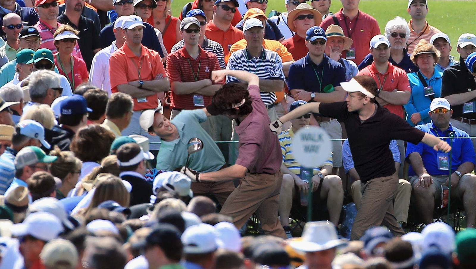 Rival PGA Hooligans Clash During Final Round Of Masters