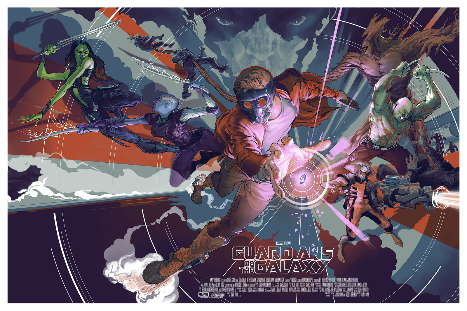 """Guardians of the Galaxy - Rich Kelly / 36""""x24"""" / Edition of 325 / $60"""