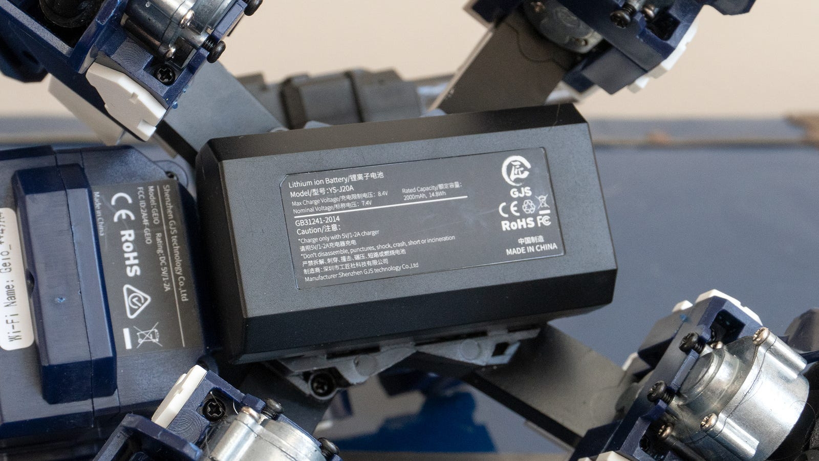 A hefty 2,000 mAh battery gives the robot a startling amount of speed. At times it can move almost too quickly.