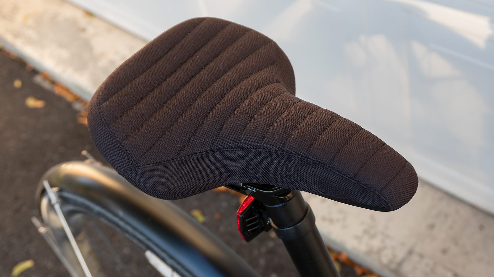 The Treadwell EQ's bike saddle is the most comfortable bicycle seat I've ever used.