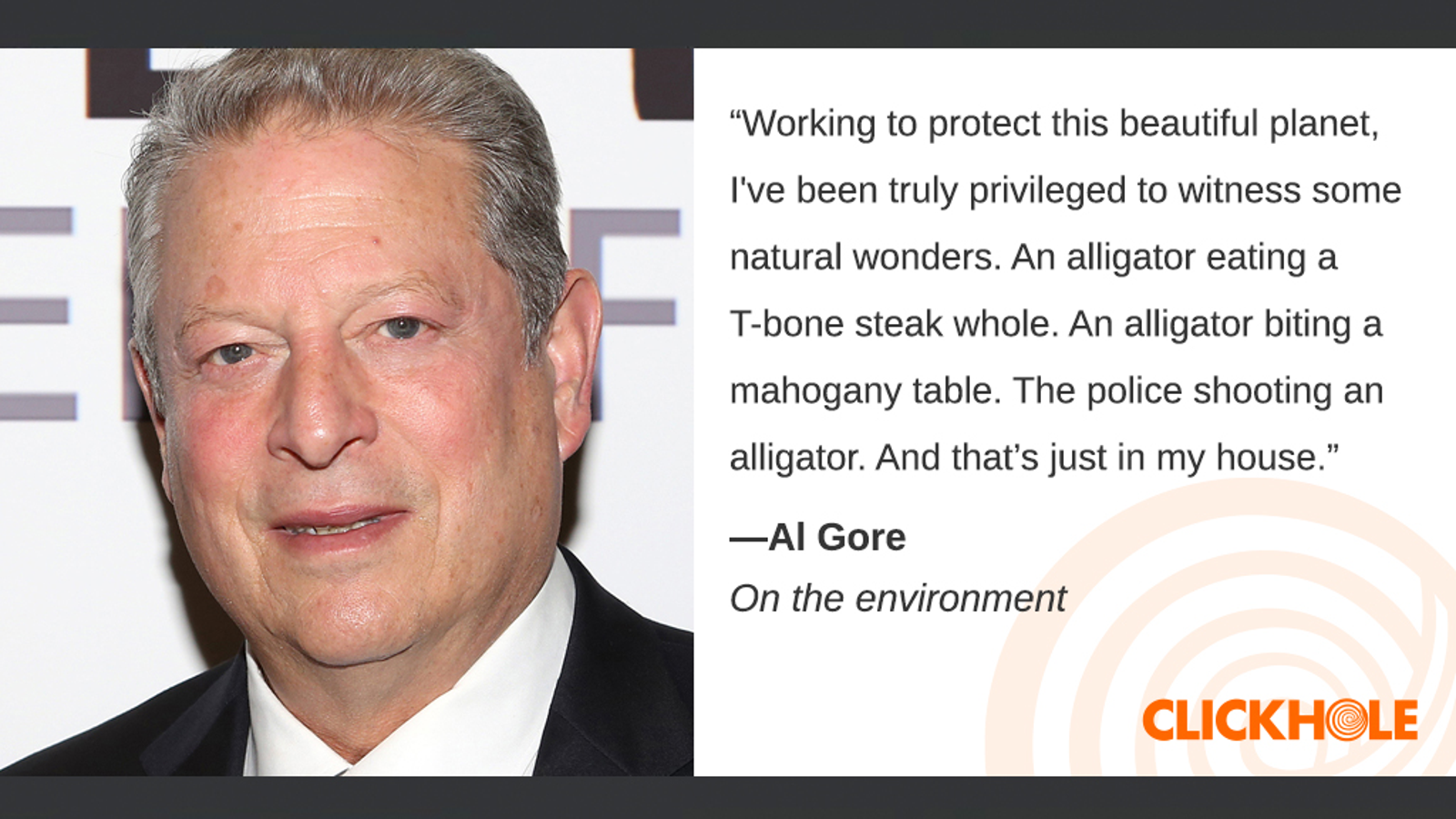Illustration for article titled Find Out What Al Gore, Billy Corgan, And Jennifer Aniston Have To Say