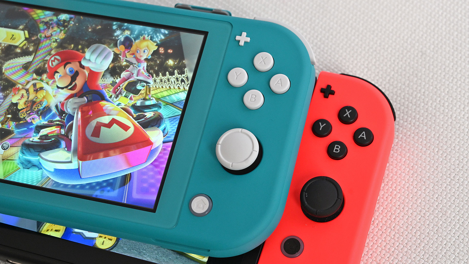 The Switch Lite's face buttons look and feel better than those on the standard Switch.