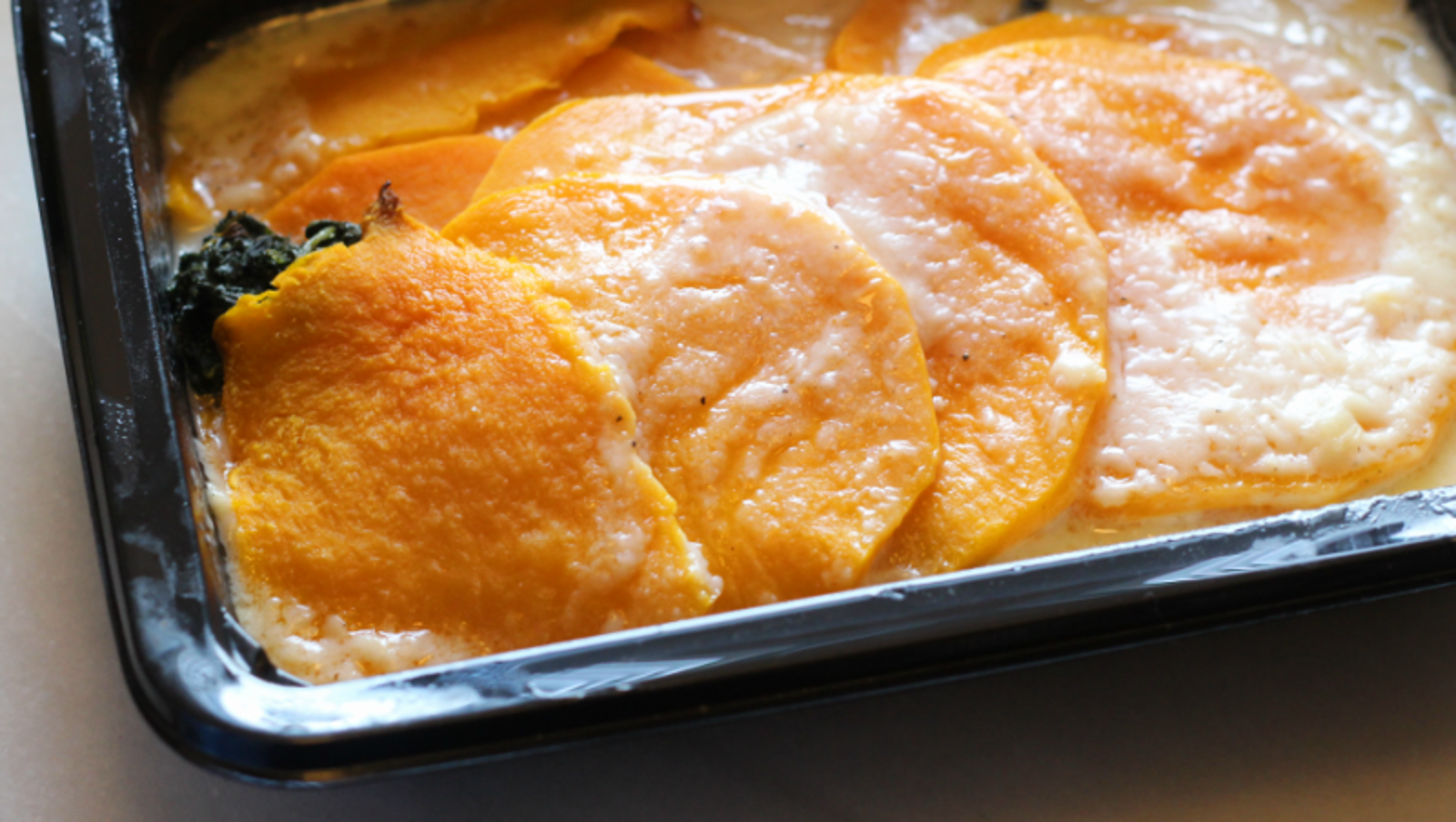 Butternut Squash and Spinach Gratin ($4.99)