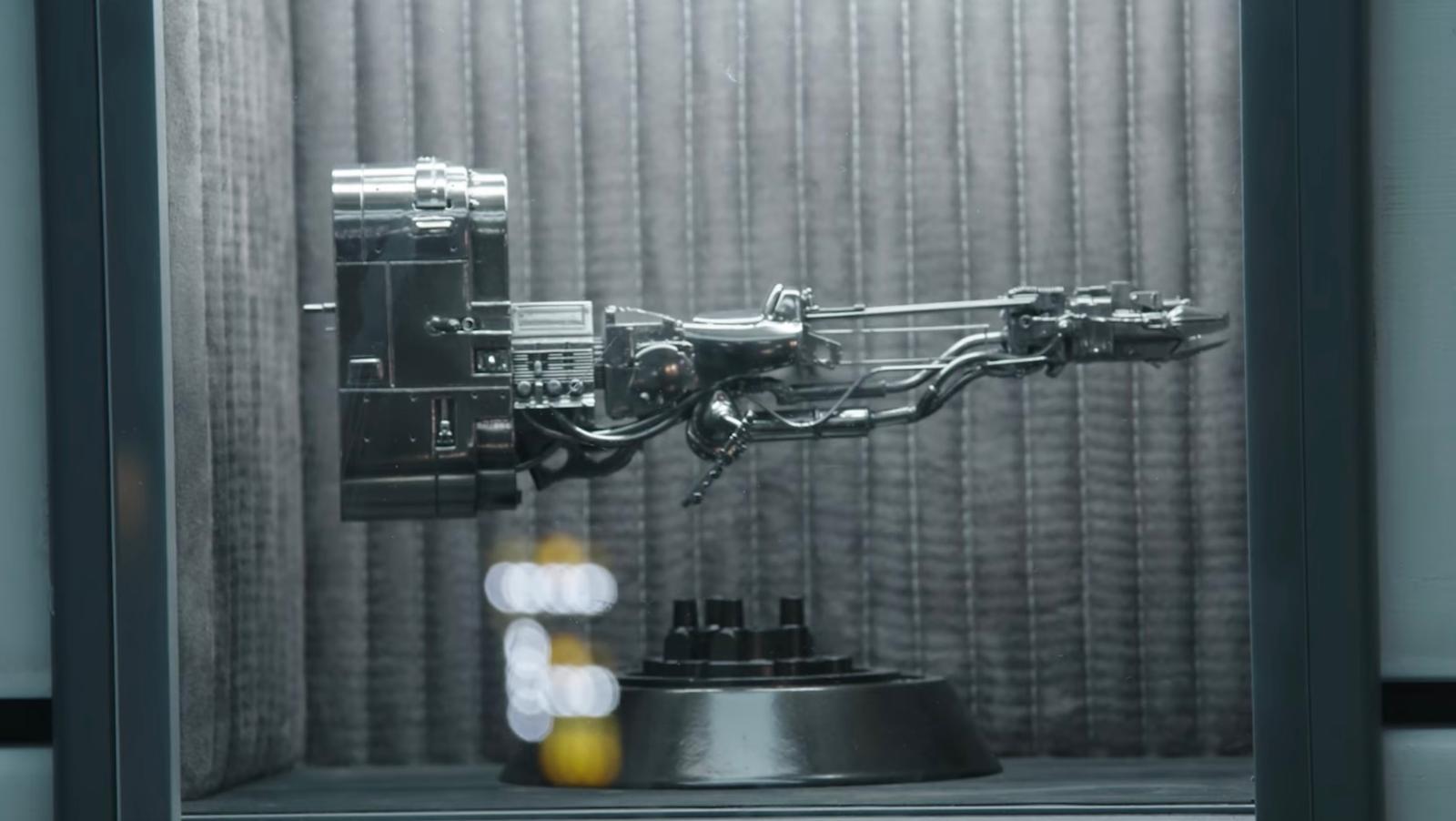 A curious treasure on Lando's Falcon that looks like a podracer.