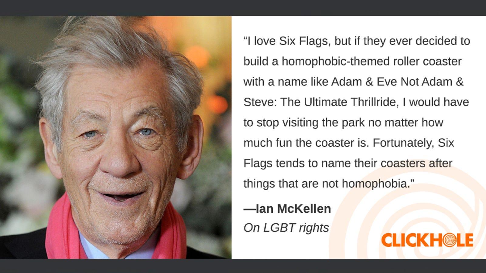 Illustration for article titled Find Out What Ian McKellen, em/emJon Taffer, And em/emTucker Carlson Have To Sayem/em