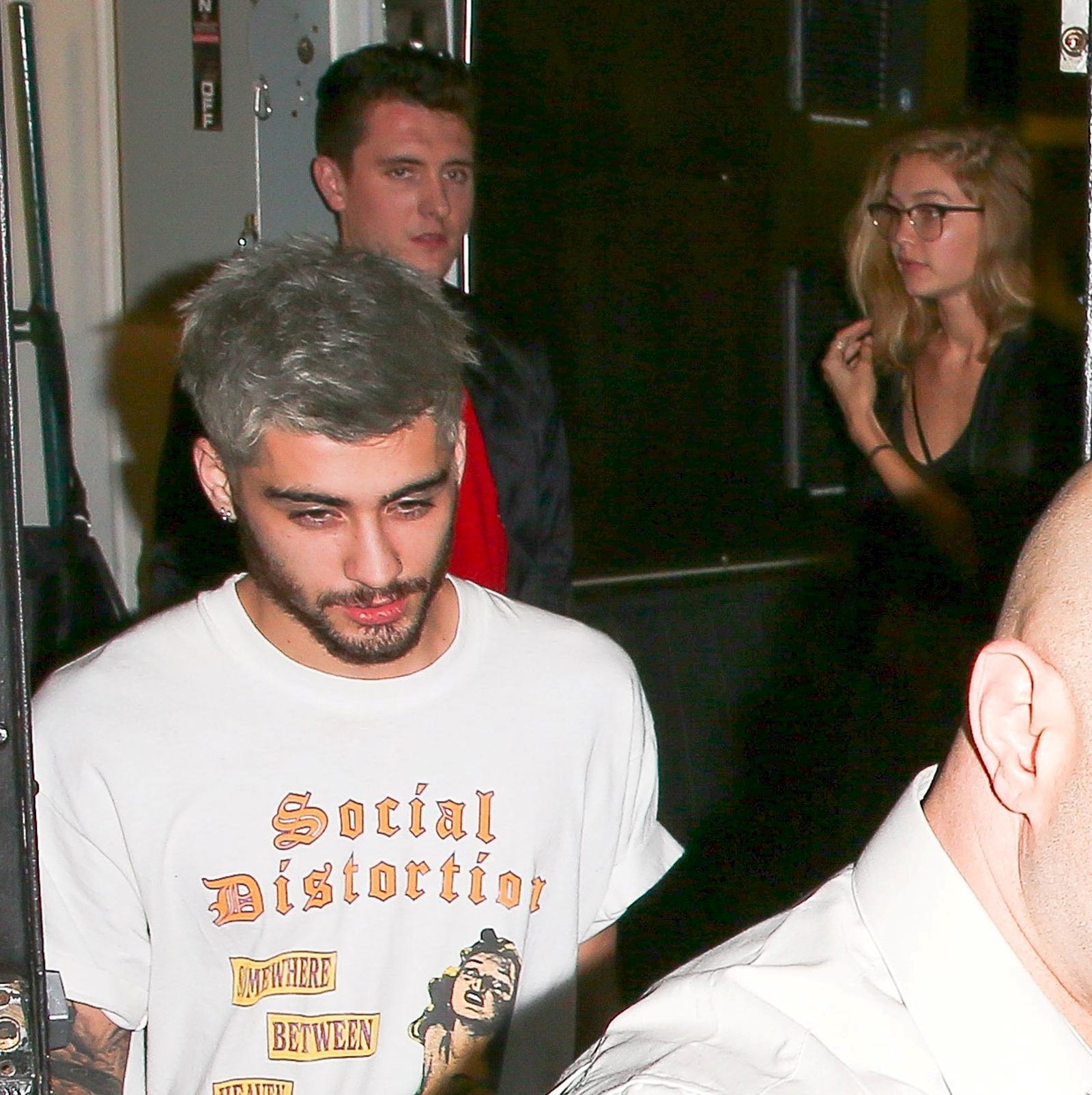 Zayn and Gigi leave their first date at the Nice Guy in LA, November 2015.