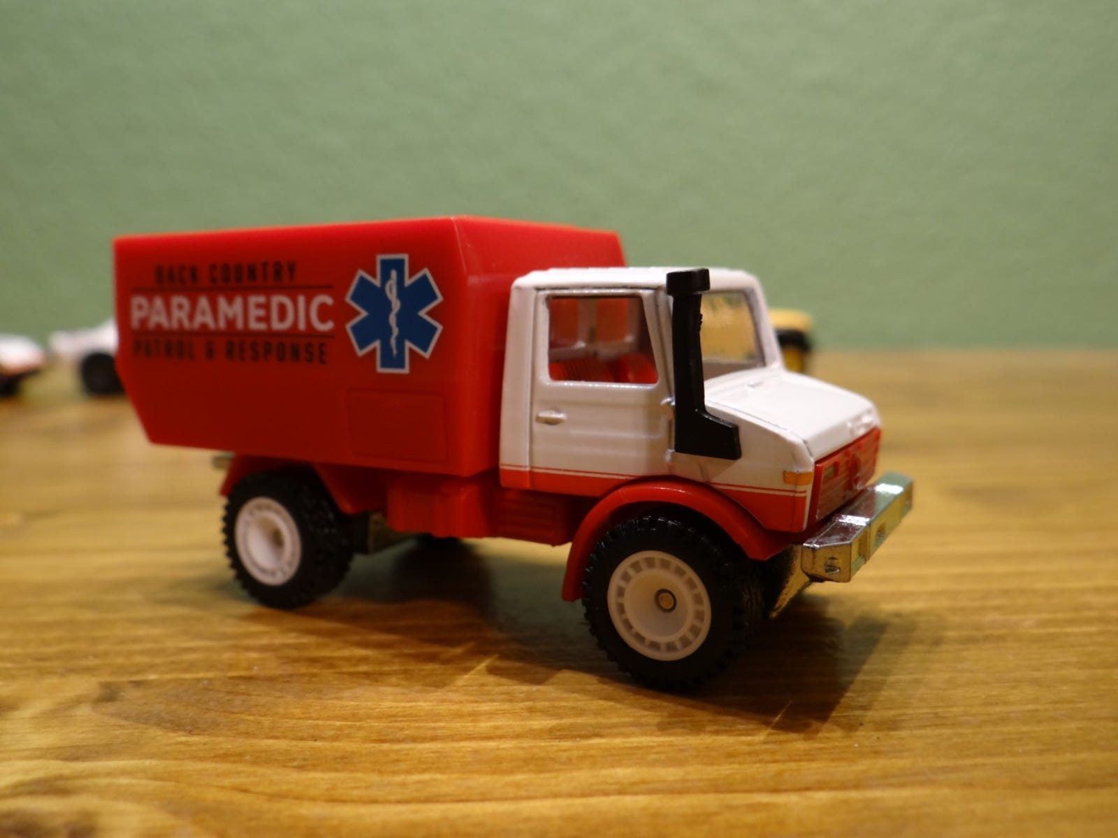 The Unimog is a little plain, but the Paramedic tampos are unique.