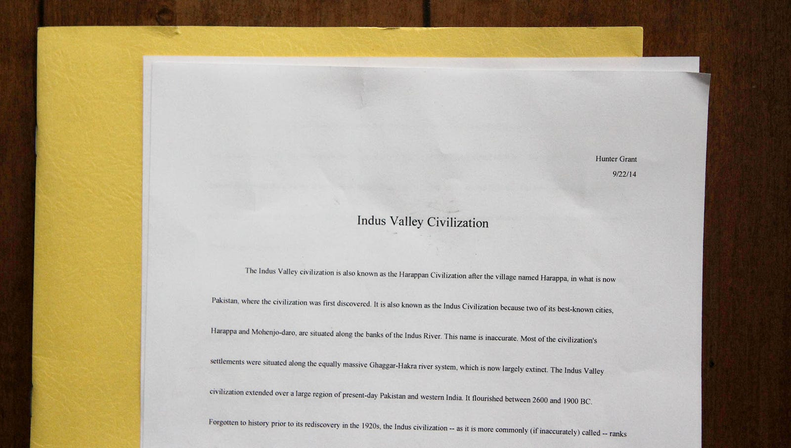 Report On Indus Valley Civilization: So dumb.