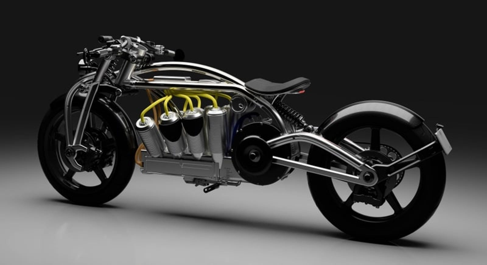 Illustration for article titled The Electric V8 on This $75,000 Bike Is One of the Coolest-Looking Motors Ever