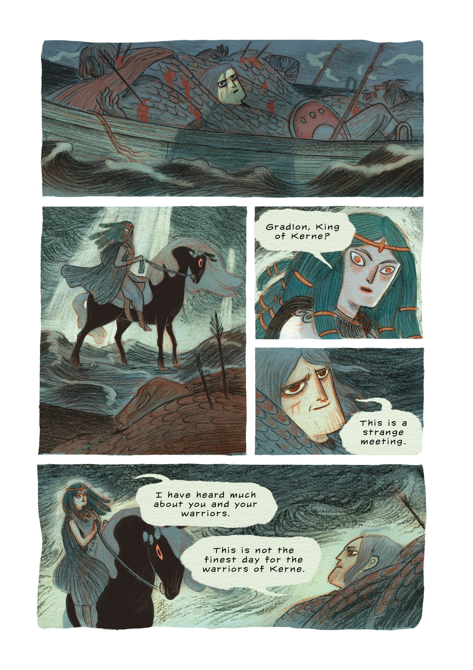 Illustration for article titled This emDaughters Of Ys/em first look beautifully brings Celtic folklore to comicsem/em