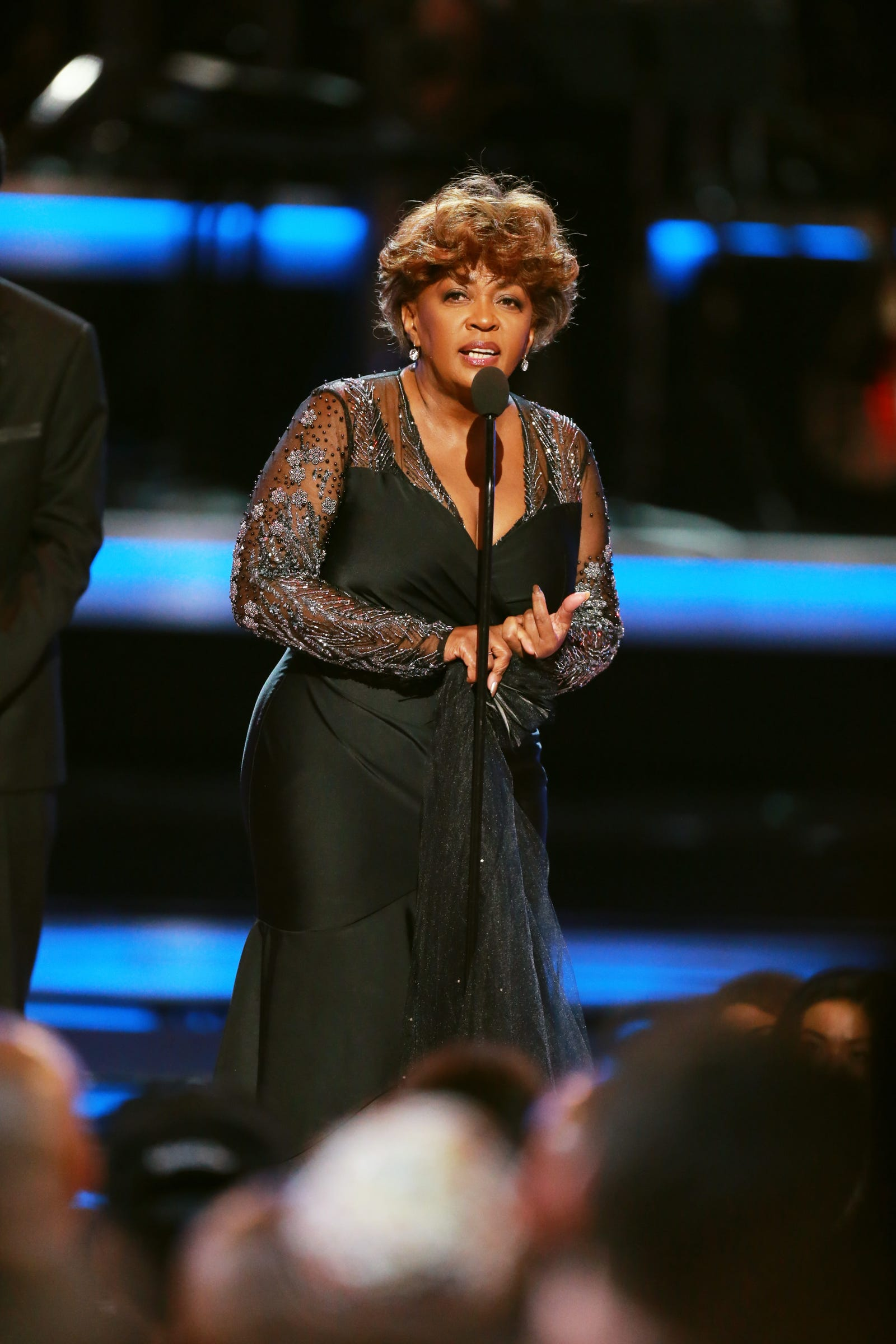 Soul Inspiration: Honoree Anita Baker looked elegant as ever in accepting a much-deserved Lifetime Achievement Award at the 2018 BET Awards.