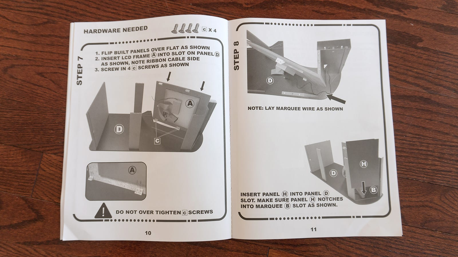 Arcade1UP's instruction manuals are well laid out and easy to follow, although I do prefer Ikea's use of illustrations over the use of product photos here.