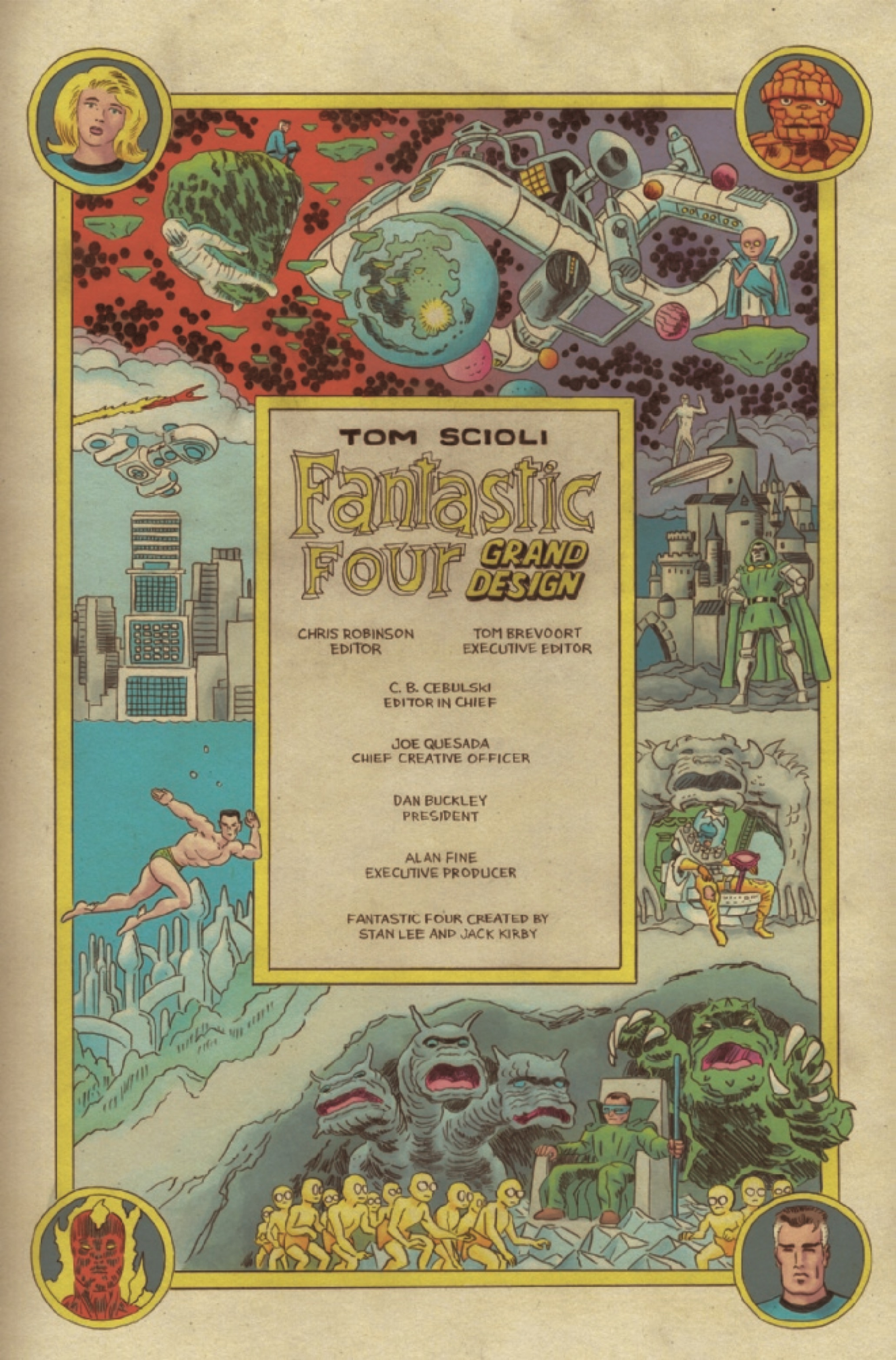 Illustration for article titled Tom Scioli tells the history of the Fantastic Four in this emGrand Design /emexclusive