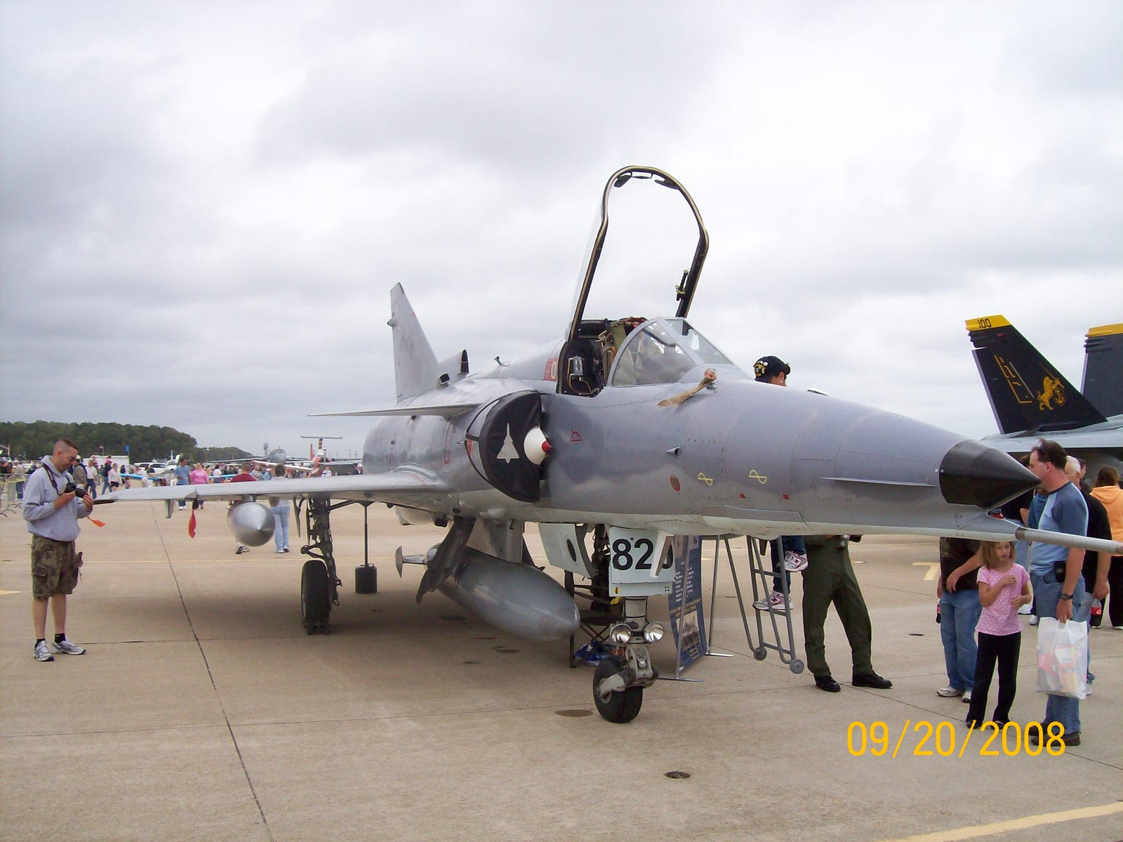 """An IAI Kfir (""""Lion Cub"""") was developed in Israel based on the Dassault Mirage 5 and is powered by a GE J79 engine, which also powered F-4 Phantoms."""