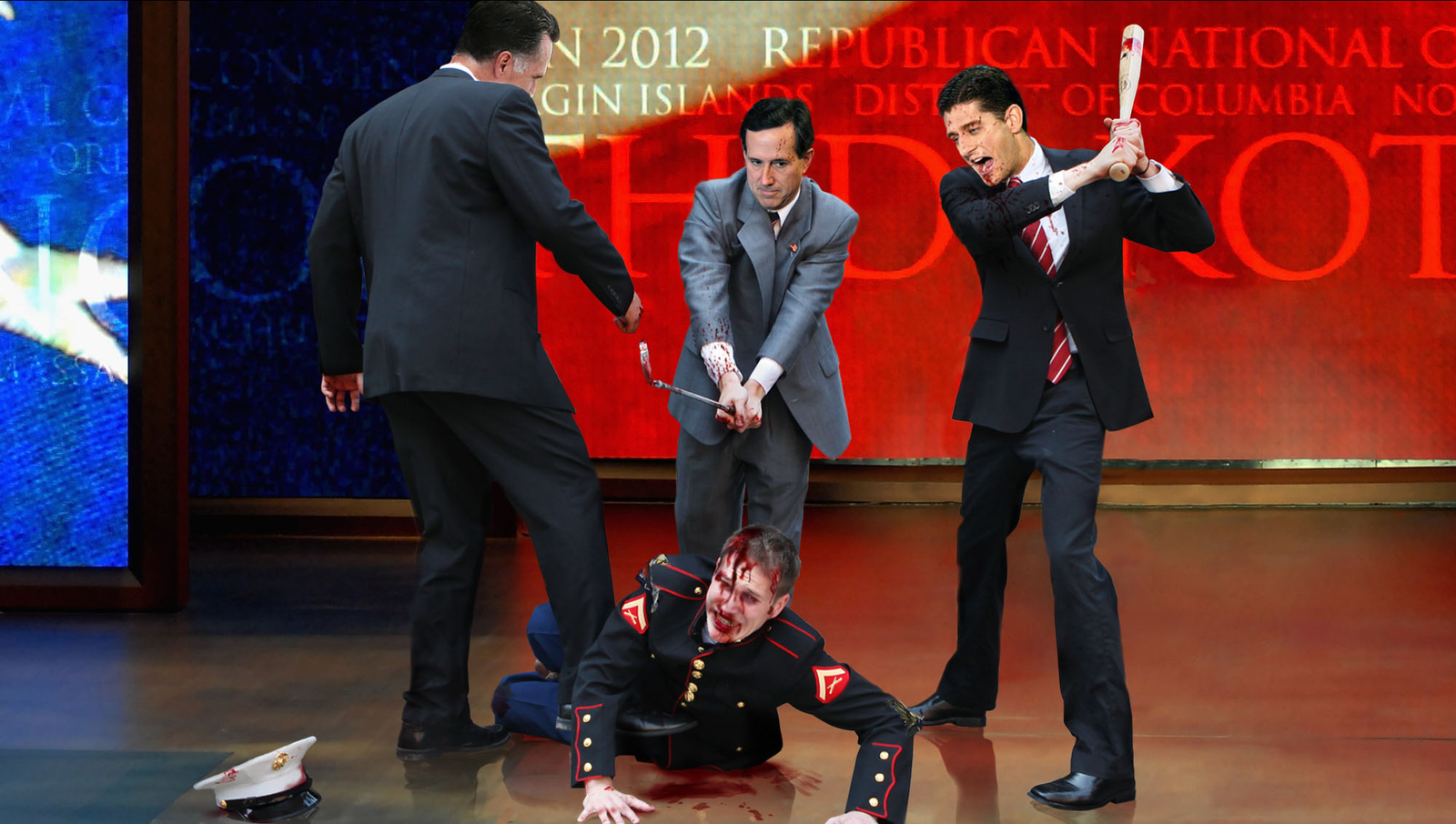 Gay Marine Beaten To Bloody Pulp To Fire Up RNC Crowd