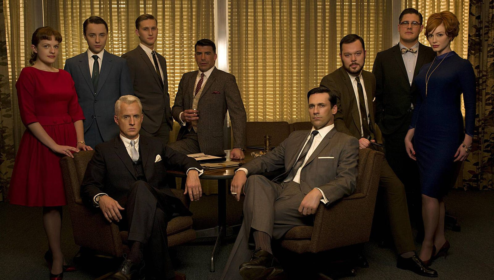 Mad Men: The period drama began with the story of Don Draper as a suave, successful New York City advertising executive in the 1960s, and culminated in the highly anticipated seventh and final season, which portrayed a demoralized, cynical 148-year-old Draper moving to Los Angeles to start a new firm in the year 2065.