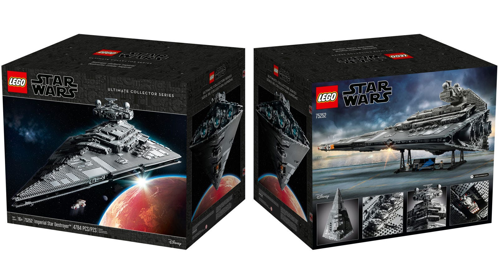 Versão de 2019 do lego da Imperial Star Destroyer; modelo de colecionador