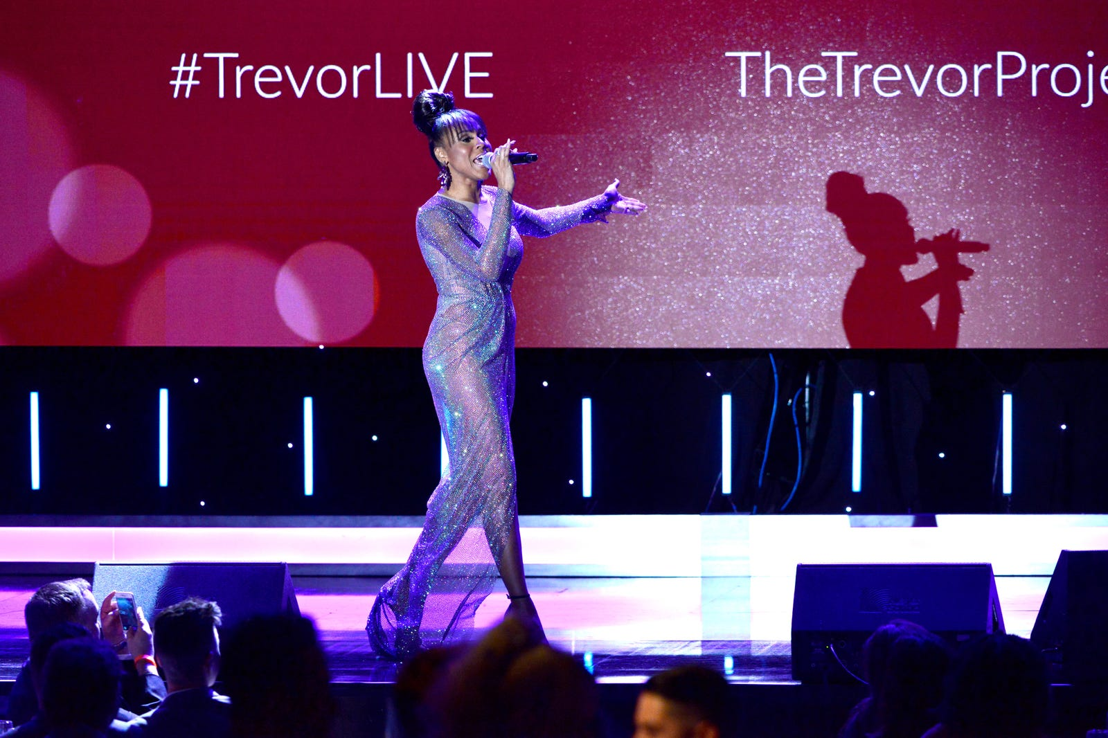 Deborah Cox performs onstage during the Trevor Project's TrevorLIVE LA 2018 at The Beverly Hilton Hotel on December 3, 2018 in Beverly Hills, California