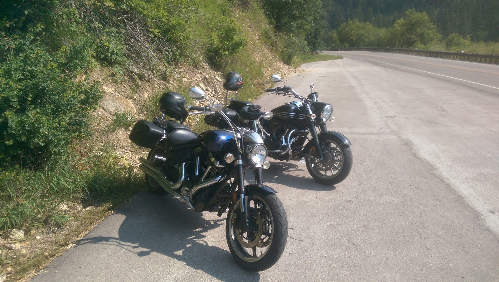 The black one. (Pics from our ride to Sturgis this year).