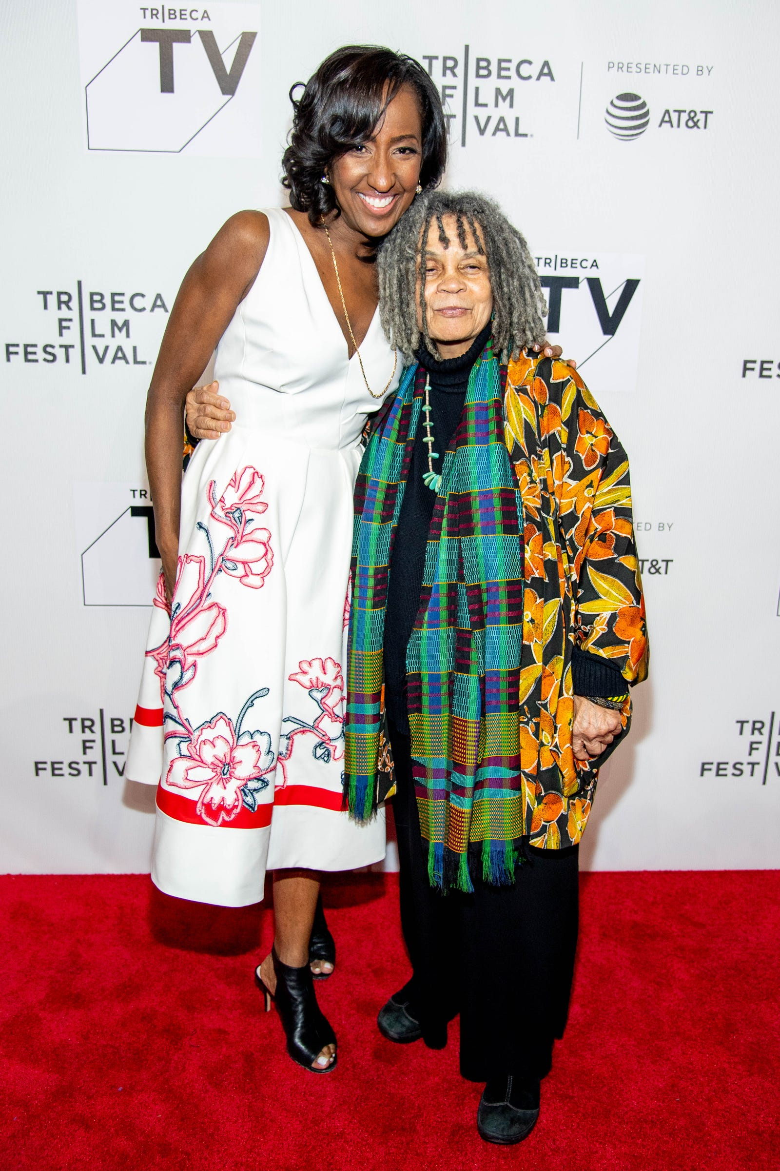 Melissa Haizlip and Sonia Sanchez attend the 'Mr. Soul!' screening during Tribeca Film Festival at Spring Studios on April 22, 2018, in New York City.