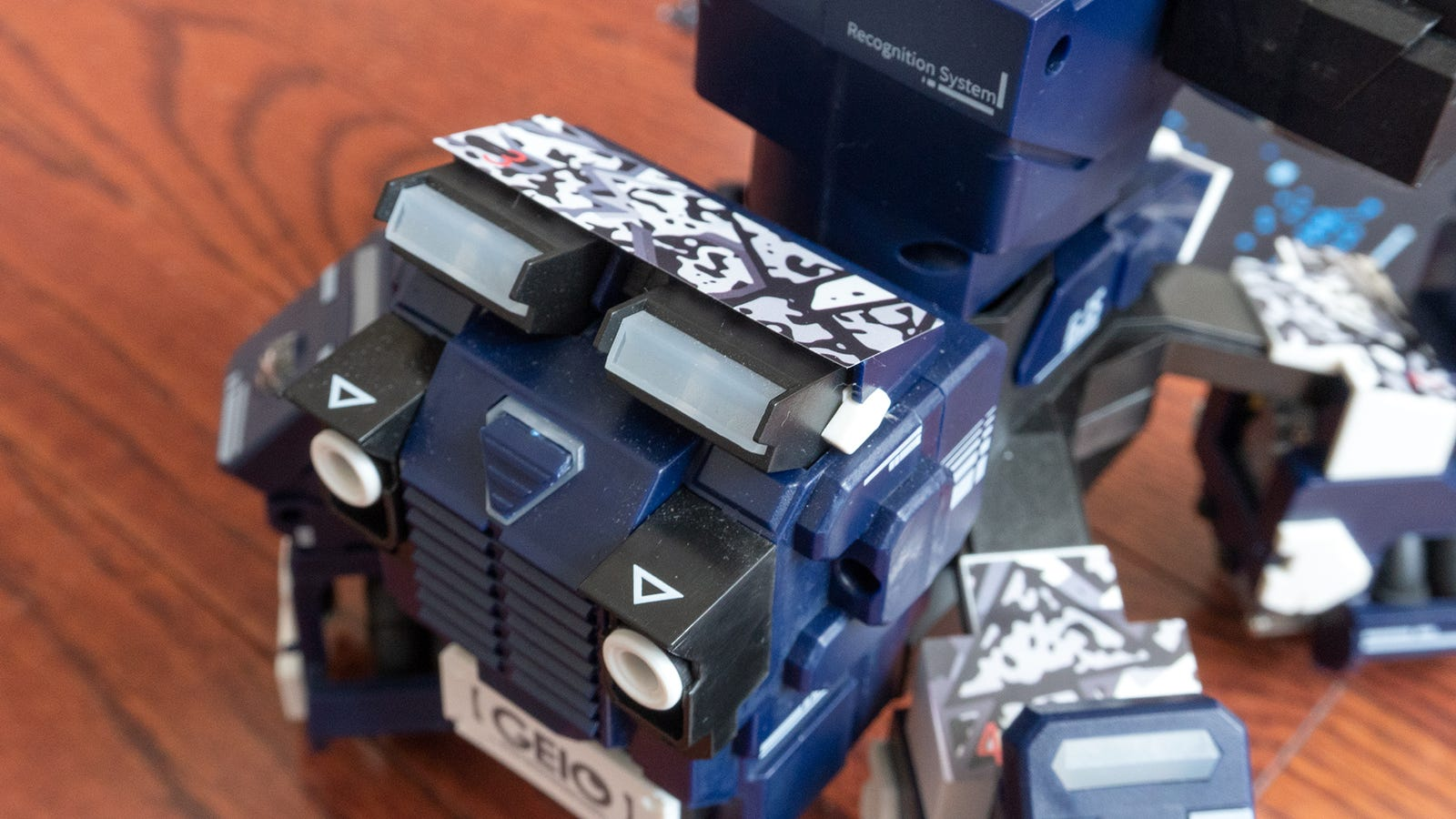 For the AR Mode to work, you also need to cover your robot in tracking marker stickers, which don't always stick that well.