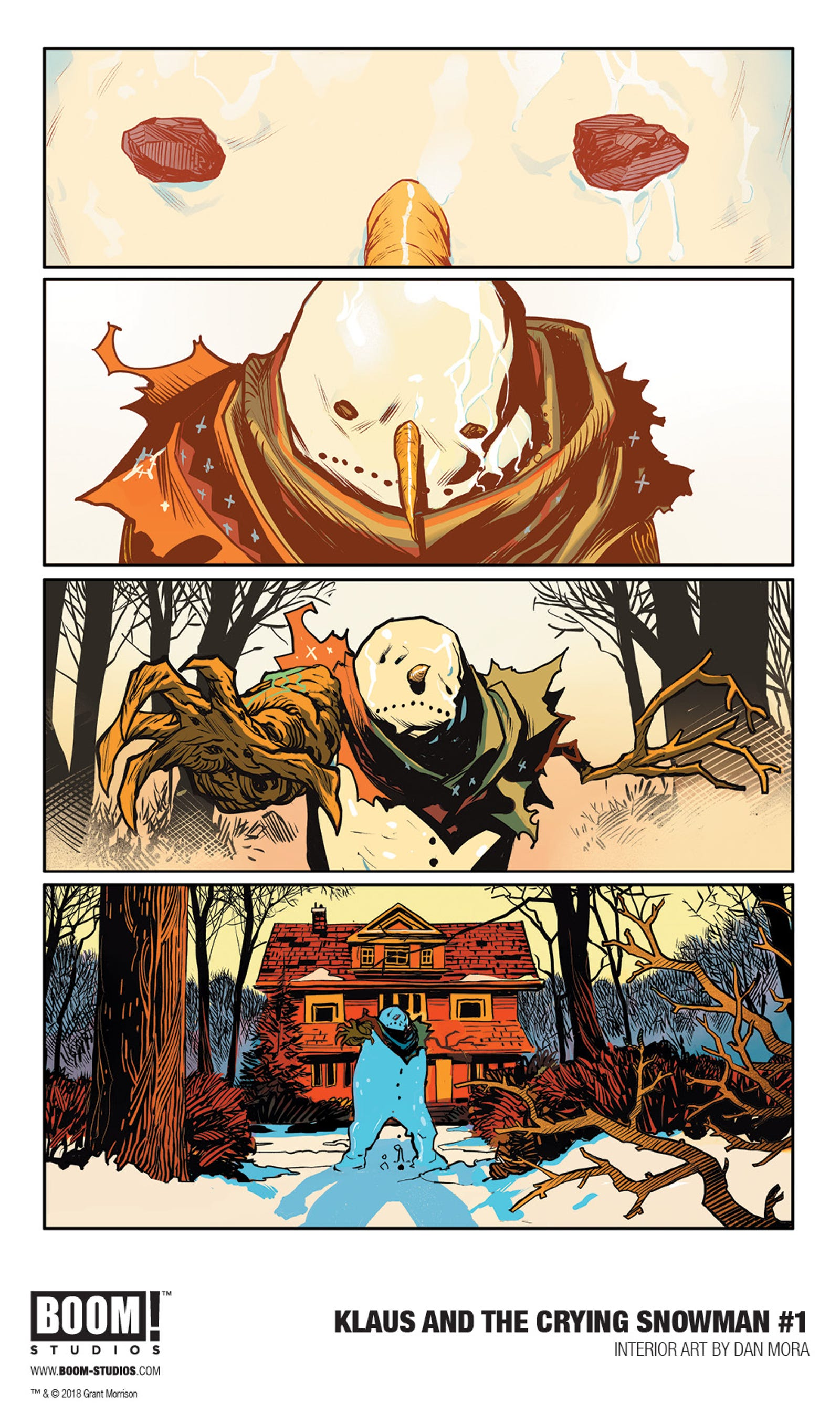 Klaus and the Crying Snowman interior art by Dan Mora.