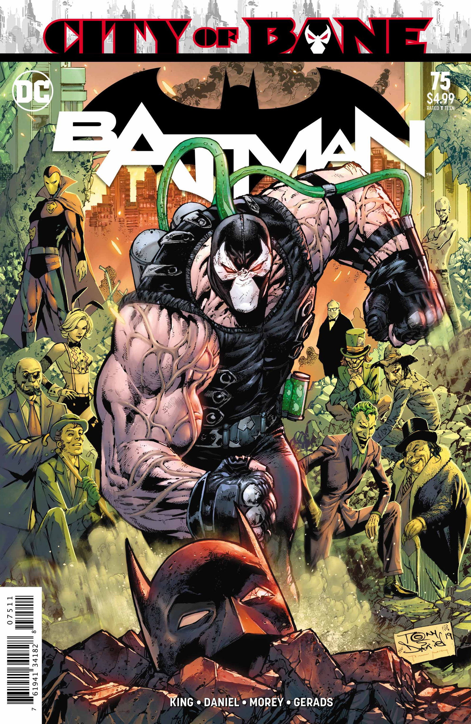 Illustration for article titled Villains take control of Gotham City in this emBatman/em #75 exclusive
