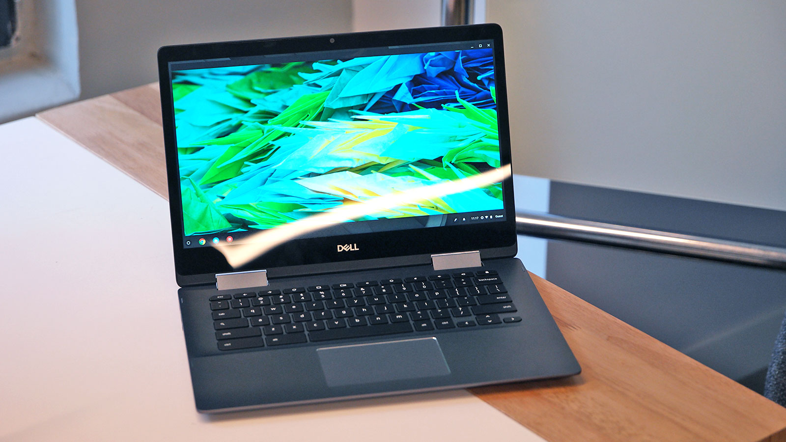 The Inspiron Chromebook 14 is essentially the same as its Windows counterparts minus the fingerprint reader but with Chrome OS and a built-in stylus.