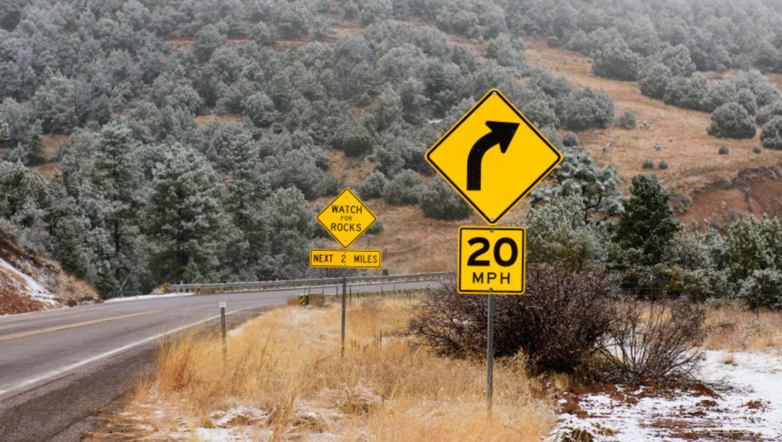 Signs Make Upcoming Section Of Road Sound Pretty Badass