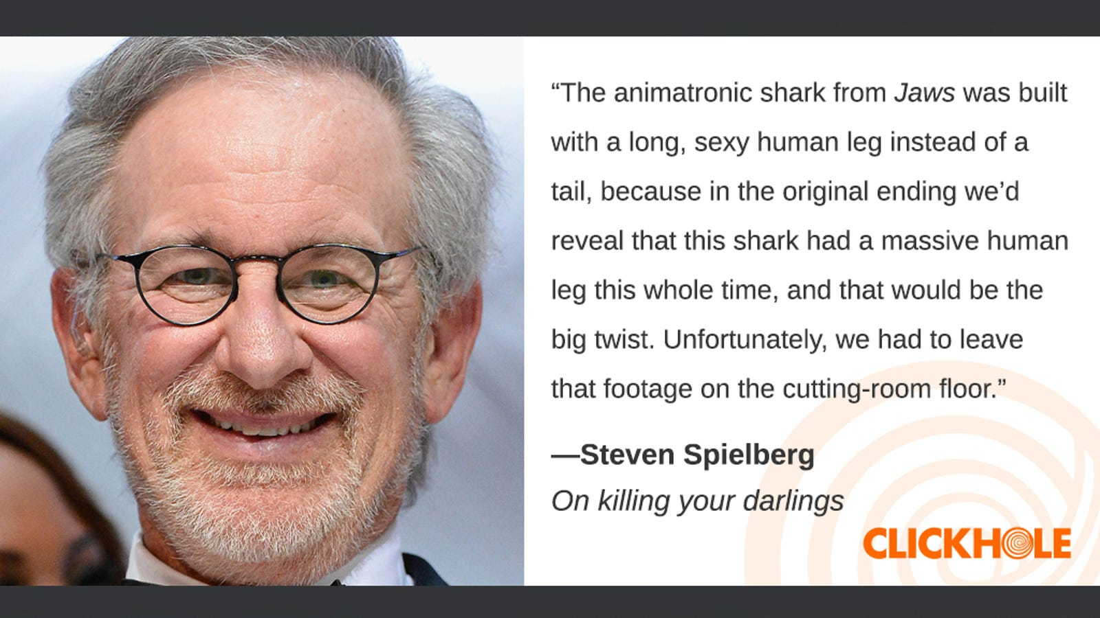 Illustration for article titled Find Out What Steven Spielberg, em/emPope Francis, And em/emKeira Knightley Have To Sayem/em