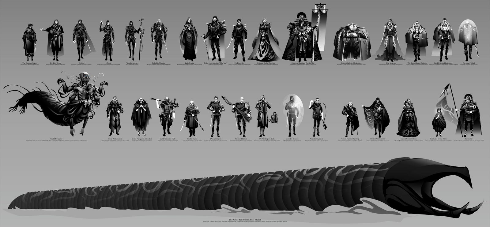 A look at all the characters in Marc Henry's illustration collection.