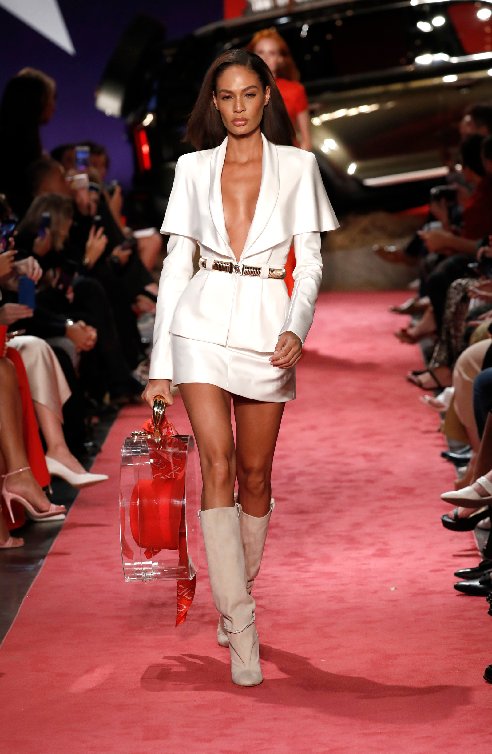 Joan Smalls walks the runway at Brandon Maxwell during New York Fashion Week at Classic Car Club on September 8, 2018 in New York City.