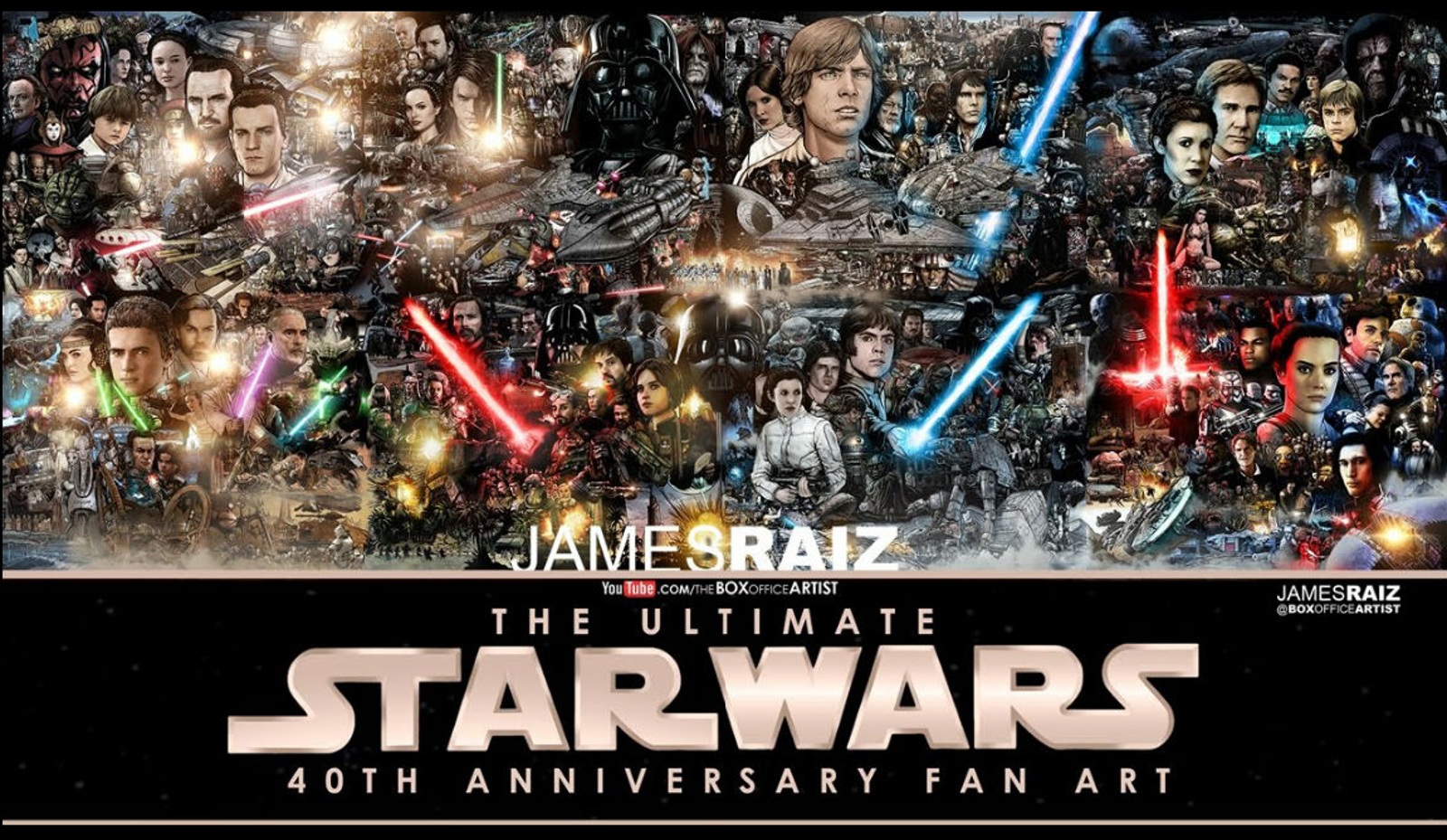 Illustration for article titled This iStar Wars /iMural Is Massive and Mindblowing