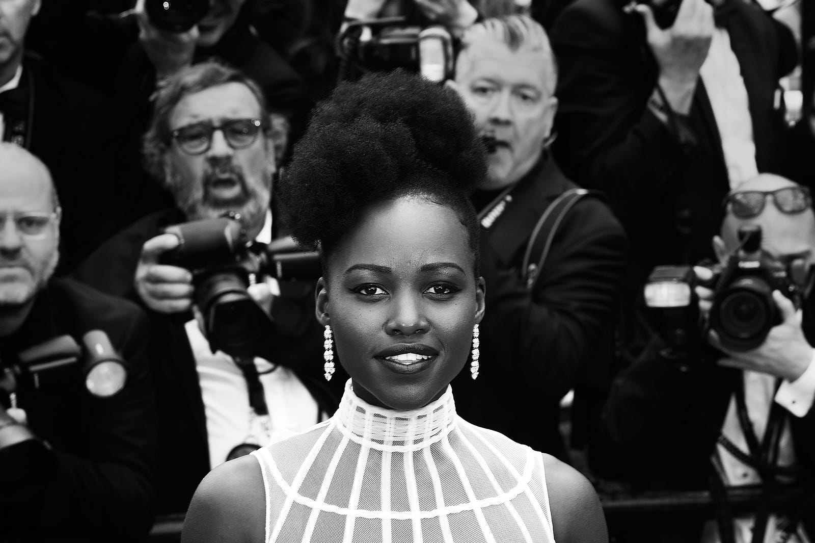 Lupita Nyong'o attends the screening of Sorry Angel (Plaire, Aimer Et Courir Vite) during the 71st annual Cannes Film Festival at Palais des Festivals on May 10, 2018, in Cannes, France.