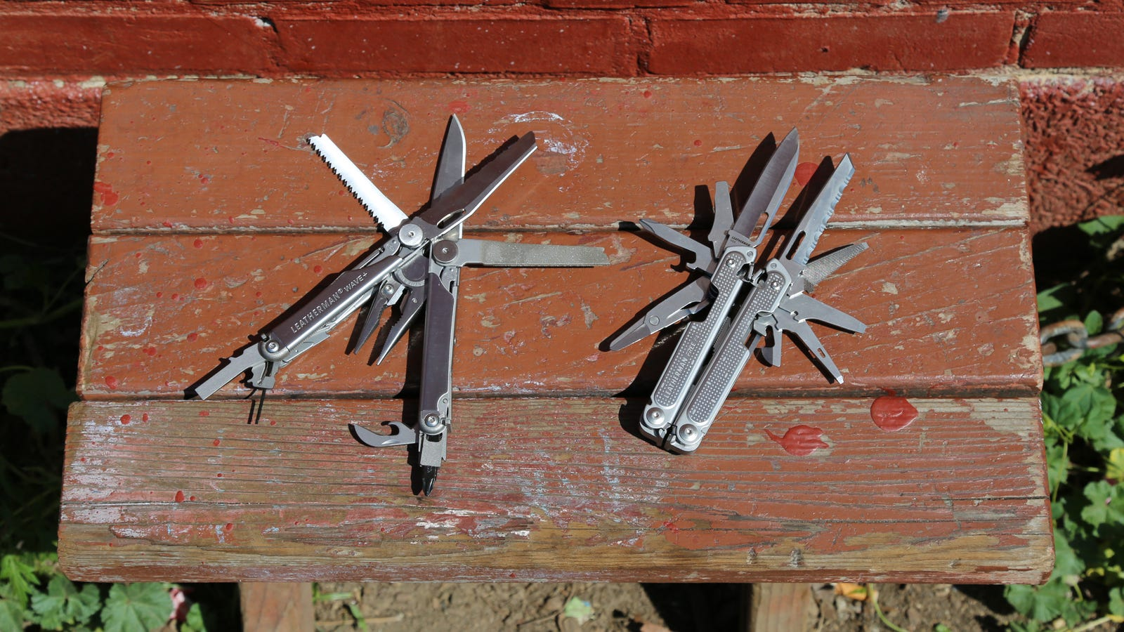 The Leatherman Wave+ (left) versus the Leatherman Free P4 (right)