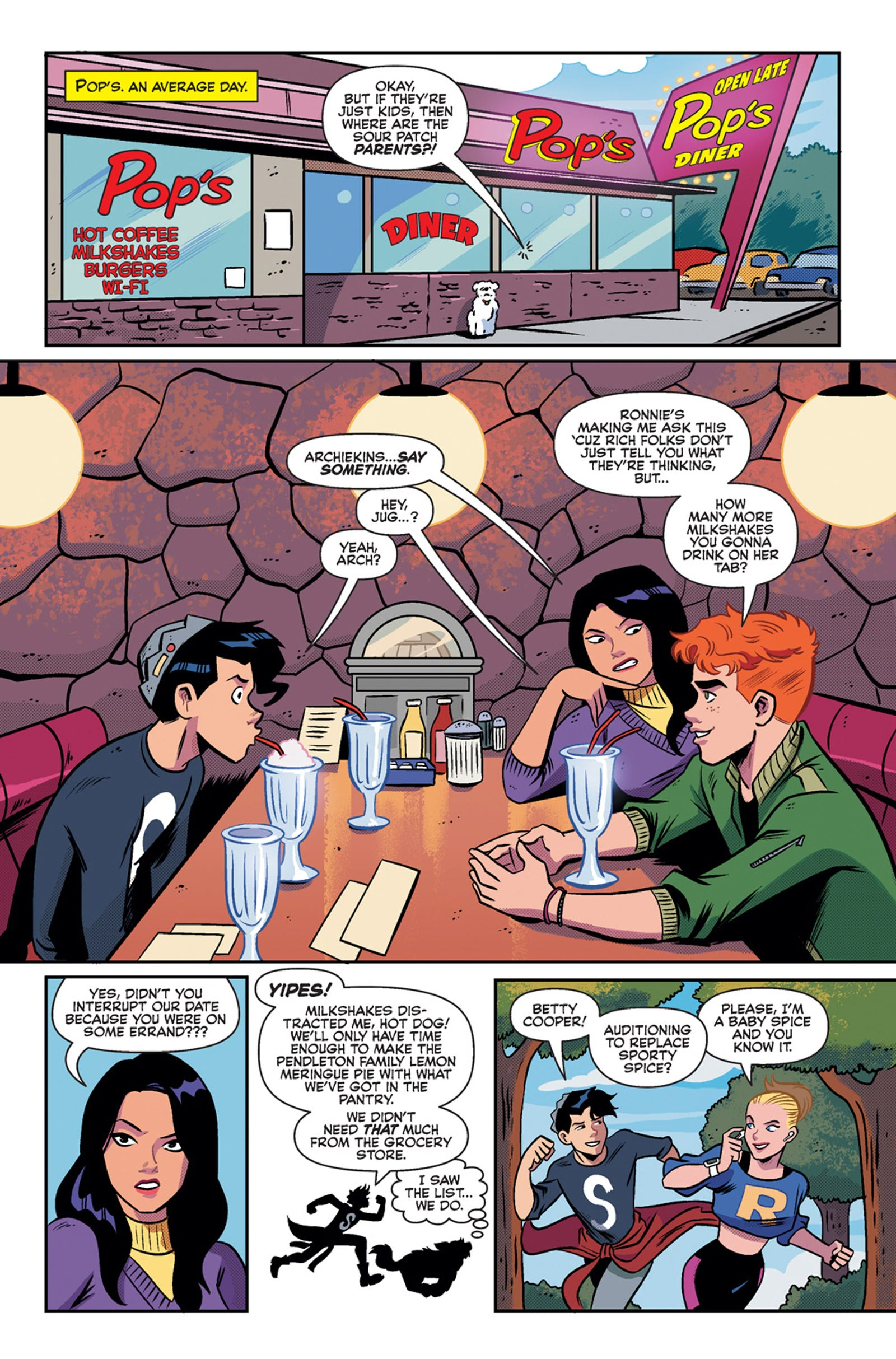 Get a look at the opening of Jughead: Time Police's first issue!