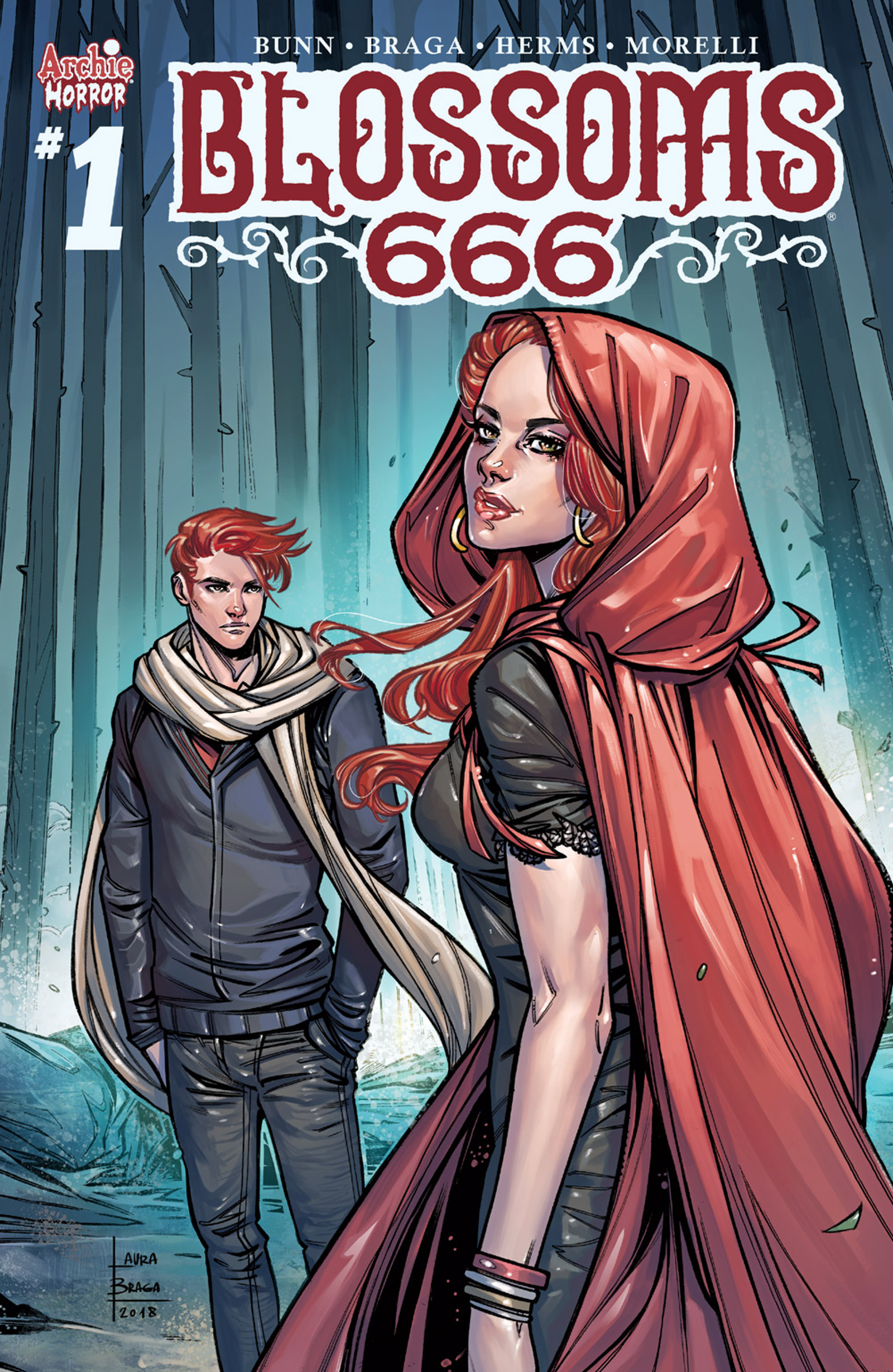 A collection of variant covers for Blossoms 666 #1.