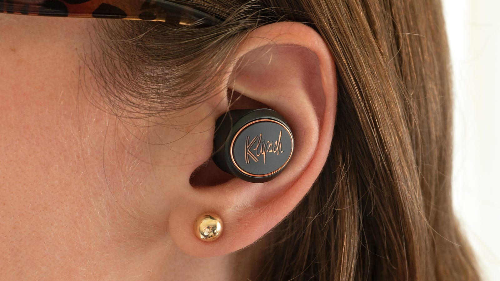 The True Wireless earbuds do stick out of your ears while worn, and the Klipsch branding isn't subtle.