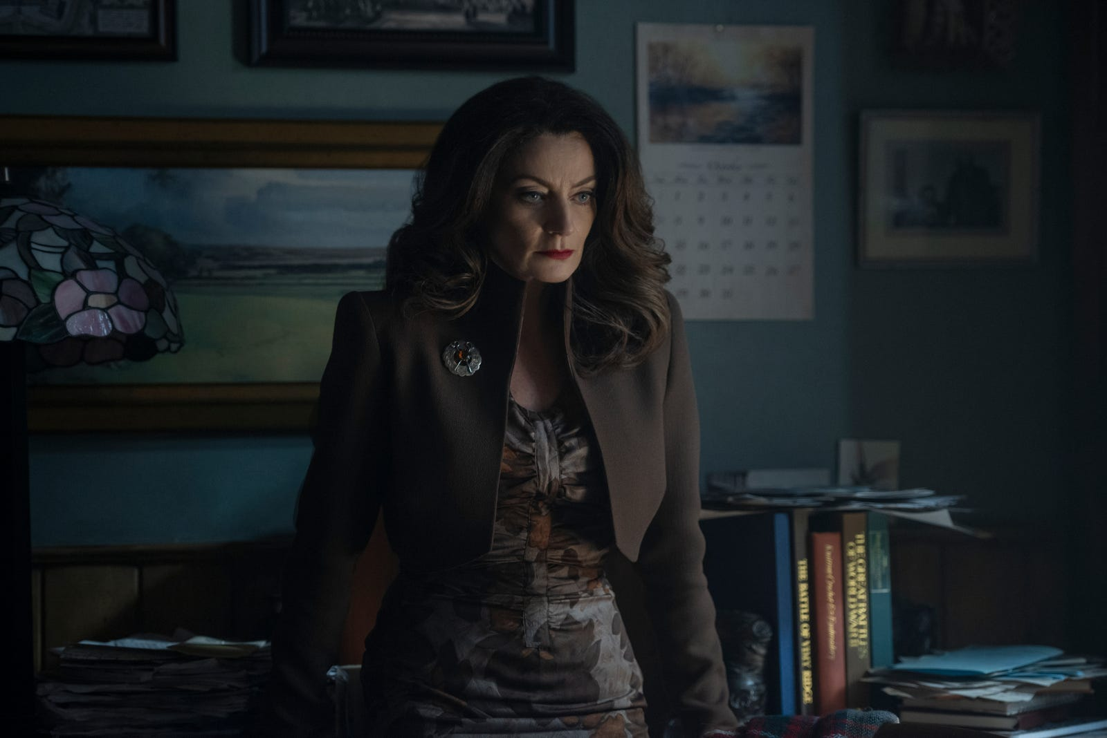 Michelle Gomez is looking perfectly devilish as Madame Satan, a servant of the Dark Lord who's possessed Sabrina's favorite teacher to ensure she goes down the Path of Night.