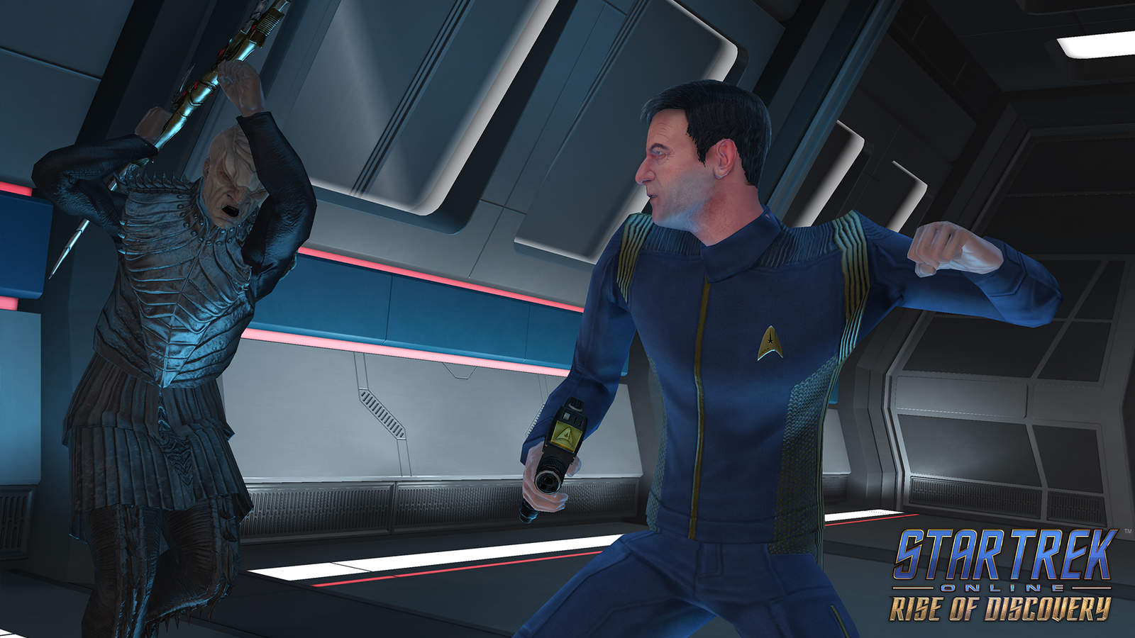 Illustration for article titled Captain Lorca Returns (for the First Time) in This Exclusive iStar Trek Online/i Trailer
