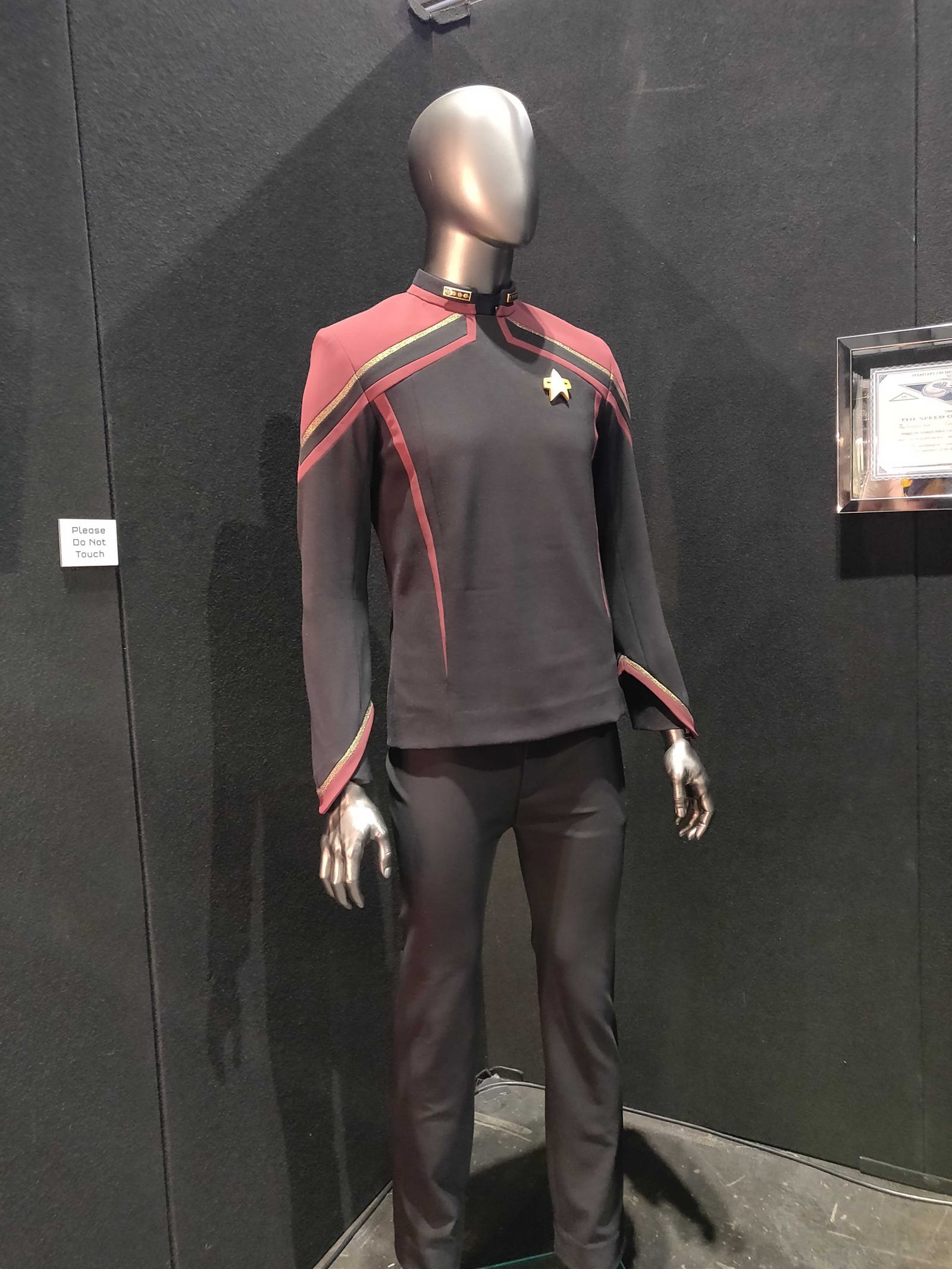 More looks at Admiral Picard's uniform.