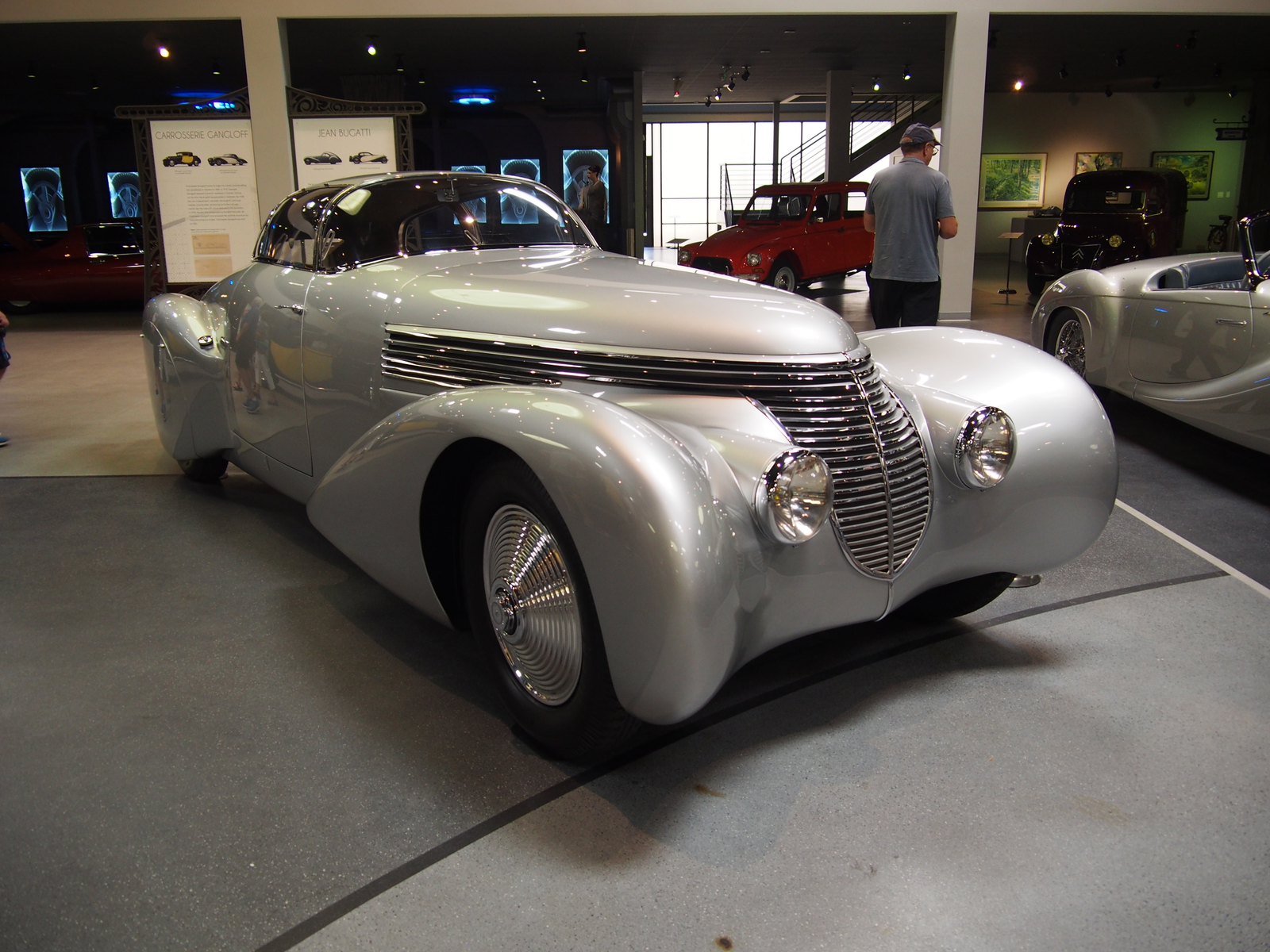 """1938 Dubonnet Hispano-Suiza H6B """"Xenia."""" This car was built for André Dubonnet, a WWI flying ace and amateur race car driver. The wild, art deco to the max body was designed by Jean Andreau and constructed by Saoutchik."""