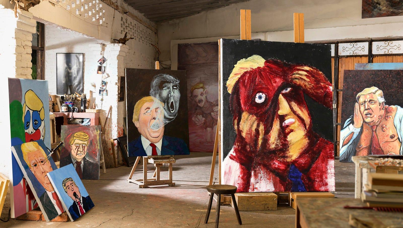 Melania Trump Stumbles Upon Dozens Of Husband's Haunting, Macabre Self-Portraits