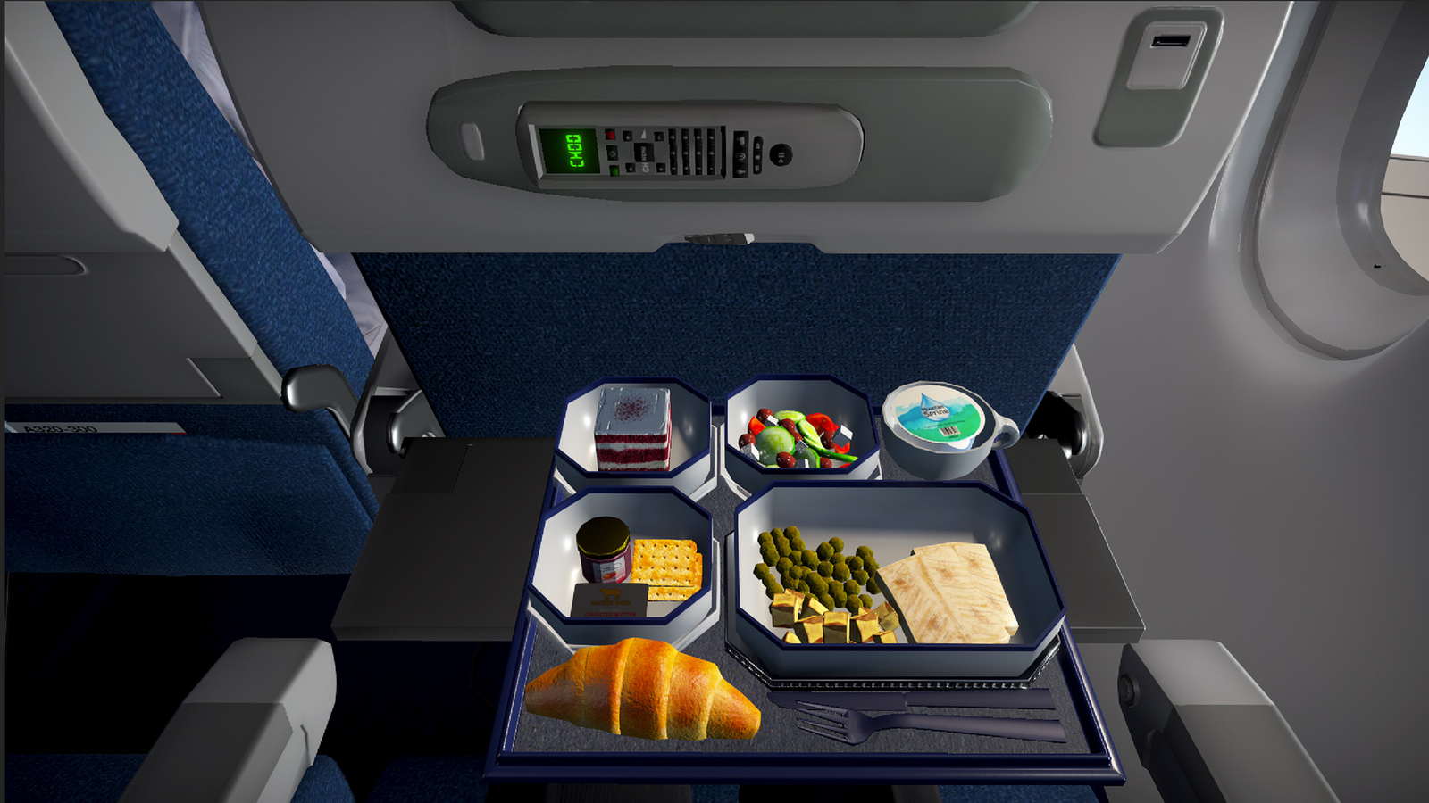 It turns out airplane food can get even less appealing.