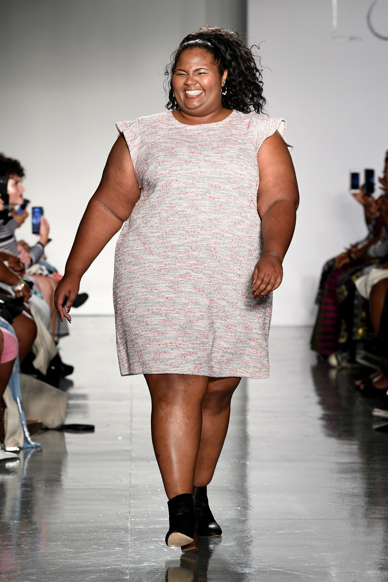 A model walks the runway at the Loft Fashion Show during theCURVYcon Powered By Dia&Co on September 7, 2018 in New York City.