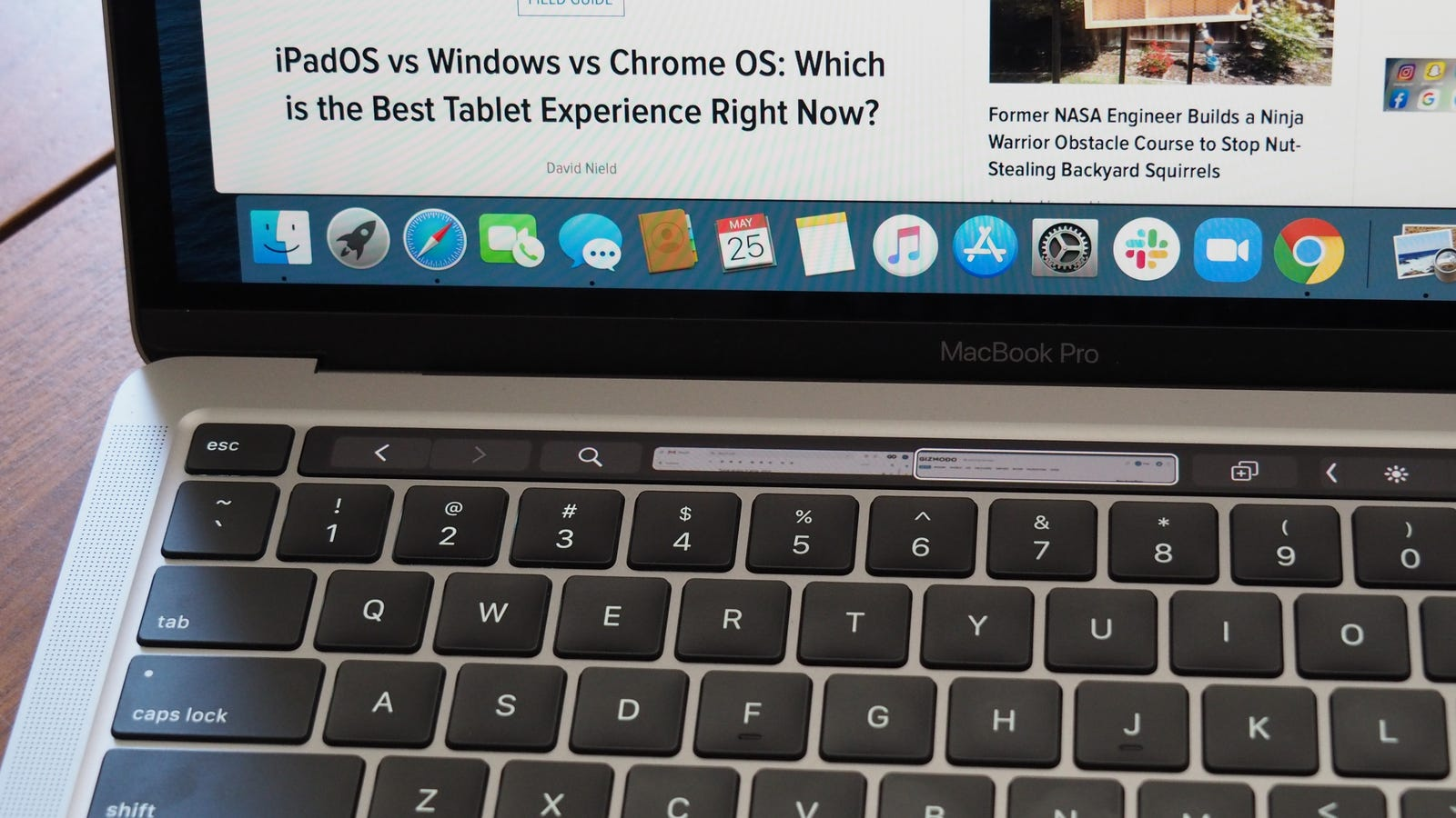 The Pro's touch bar sets it apart from the MacBook Air, but I can take it or leave it.