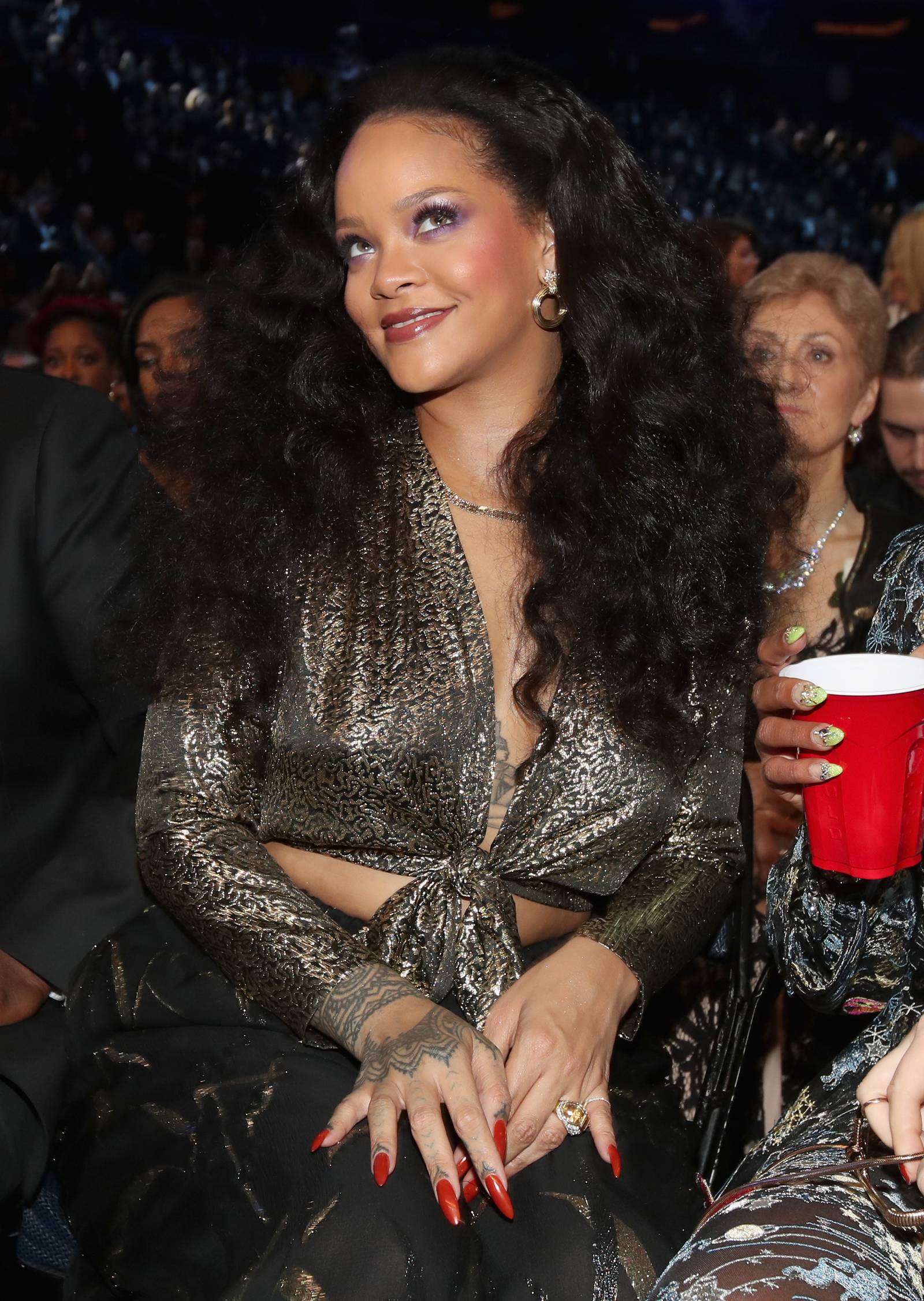 Rihanna attends the 60th annual Grammy Awards at Madison Square Garden on Jan. 28, 2018, in New York City. (Christopher Polk/Getty Images for NARAS)