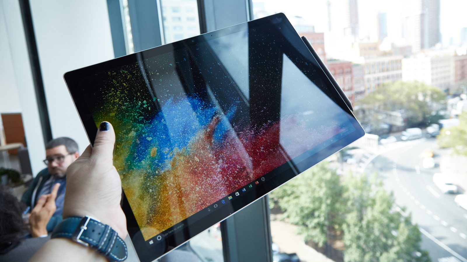 The 3000 x 2000 display on the 13.5-inch and the 3240 x 2160 display on the 15-inch are real pretty.