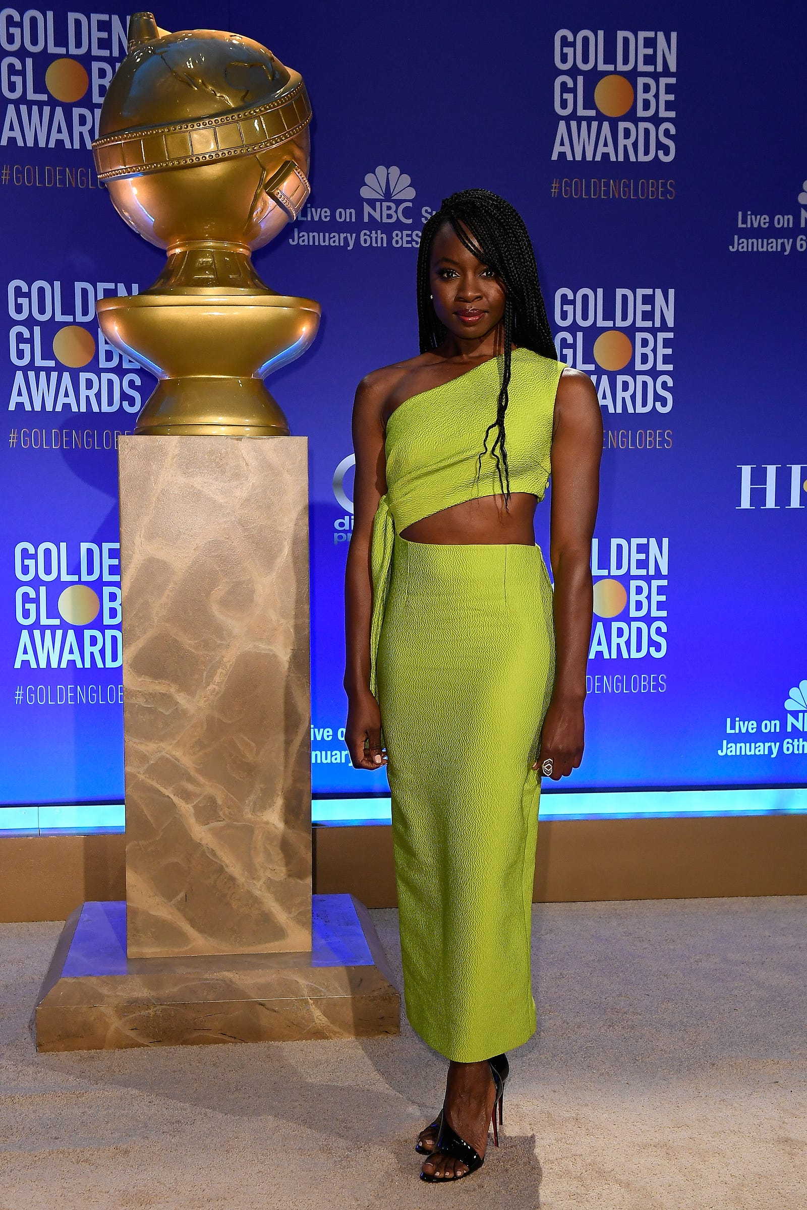 Danai Gurira attends the 76th Annual Golden Globe Nominations Announcement on December 6, 2018 in Beverly Hills, California.