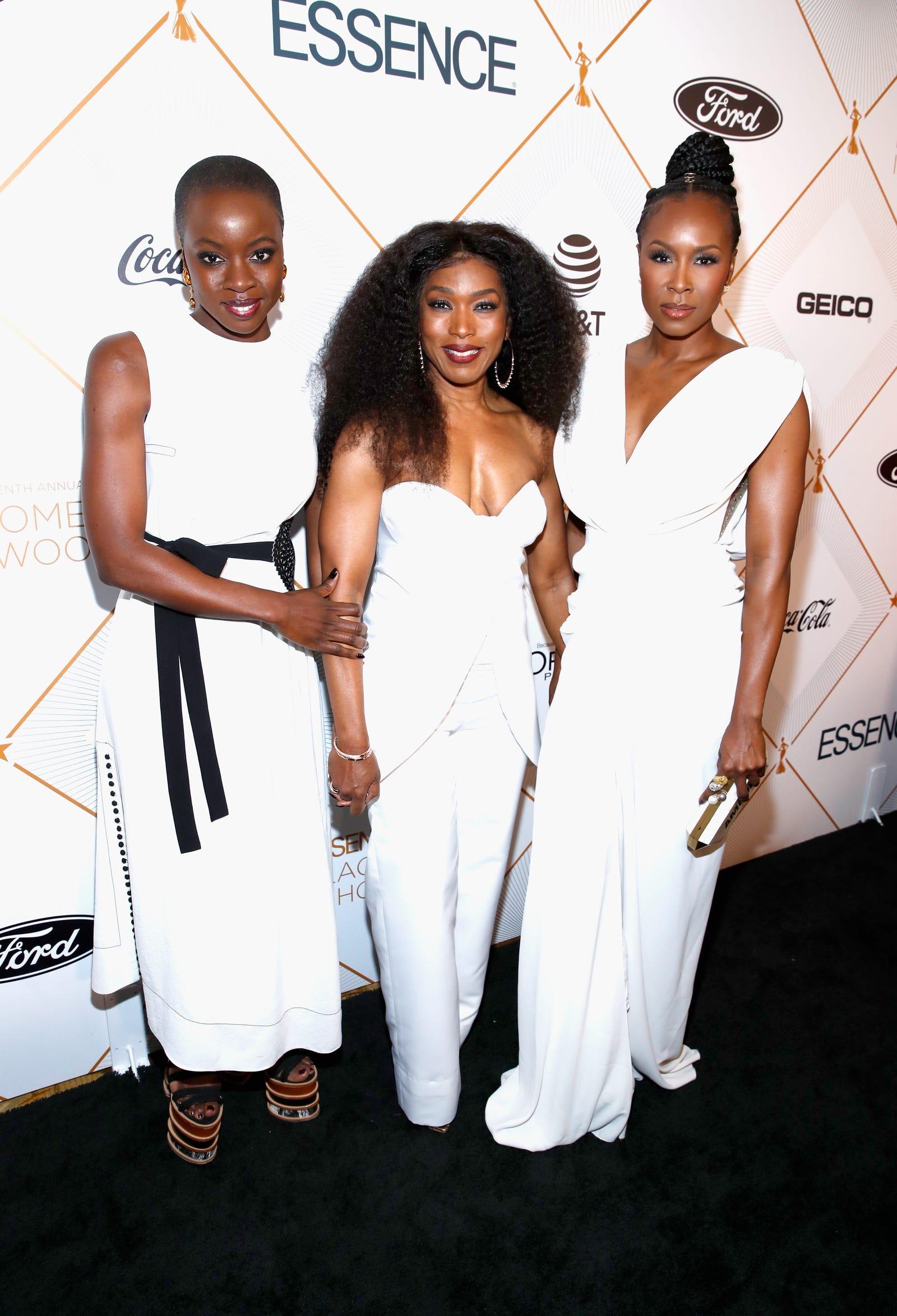 Three glorious goddesses: Danai Gurira, Angela Bassett and Sydelle Noel (Leon Bennett/Getty Images for Essence)